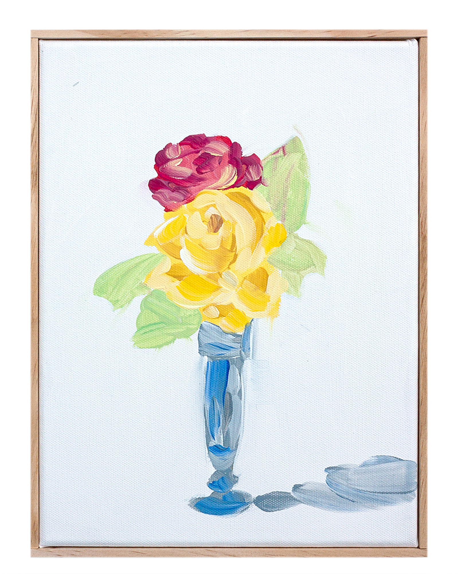 """Arrangement with Roses and Naples Yellow"" by Isabel Vexin,"