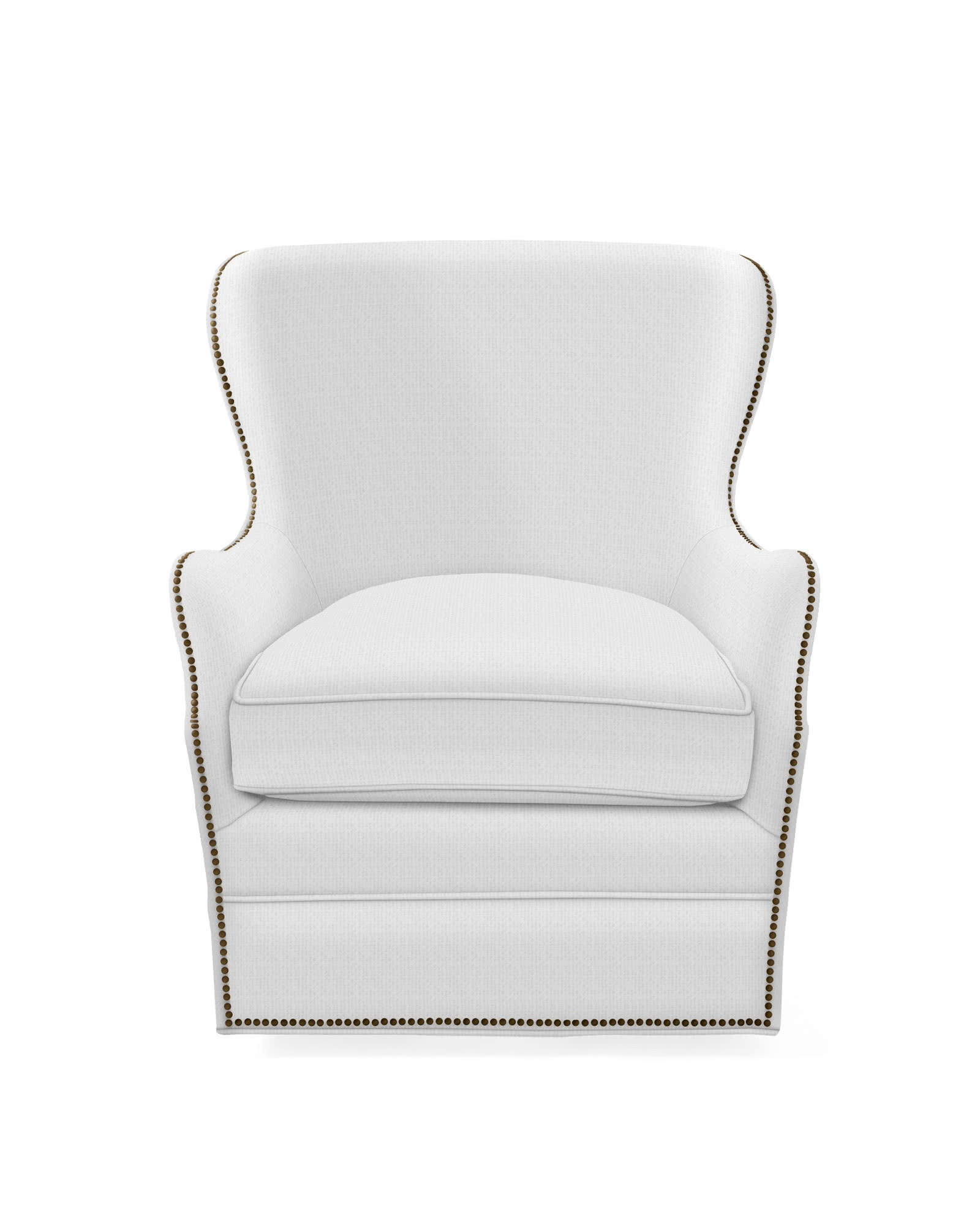 Thompson Swivel Chair with Nailheads,