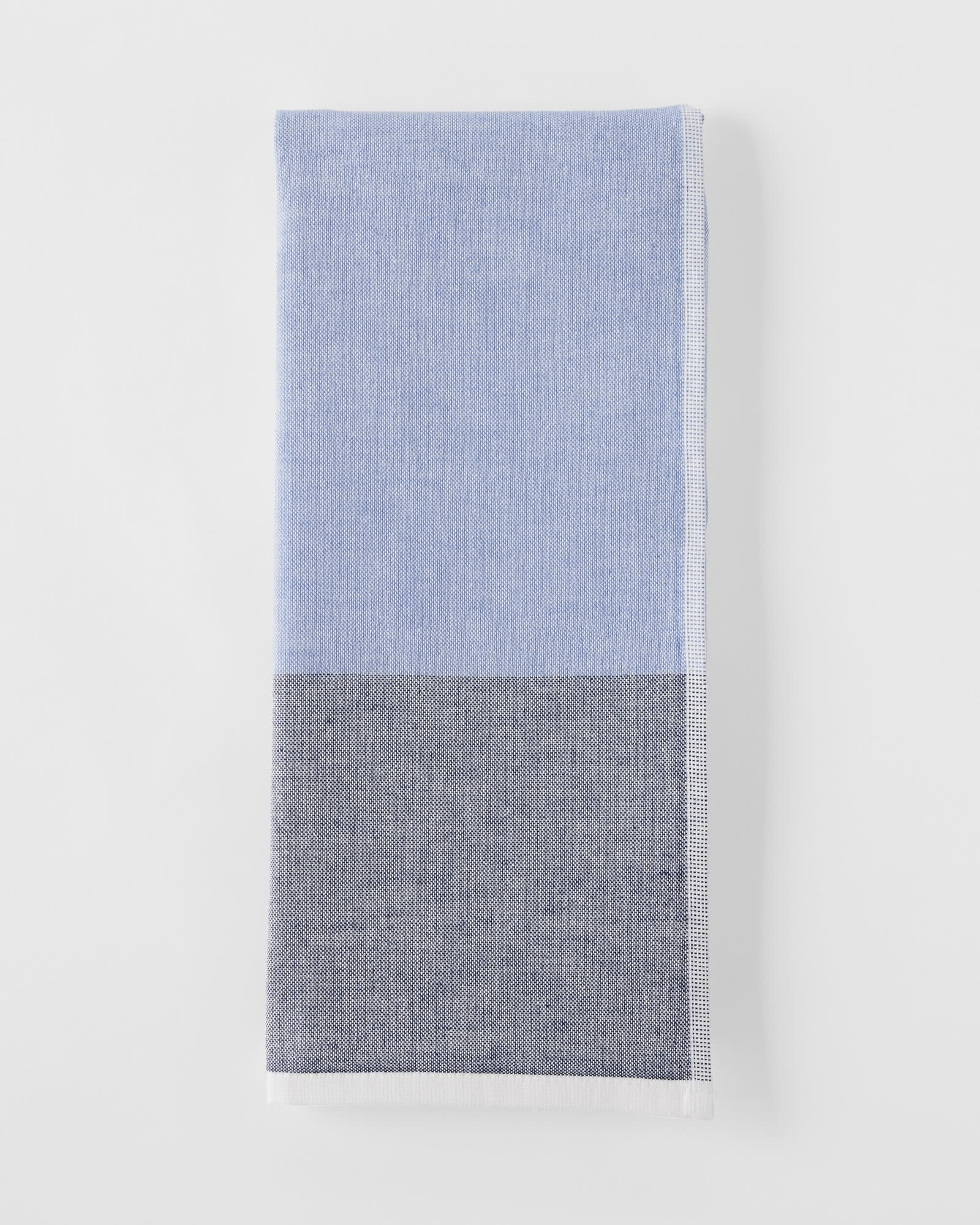 Color Block Fouta Hand Towel, Navy/Chambray