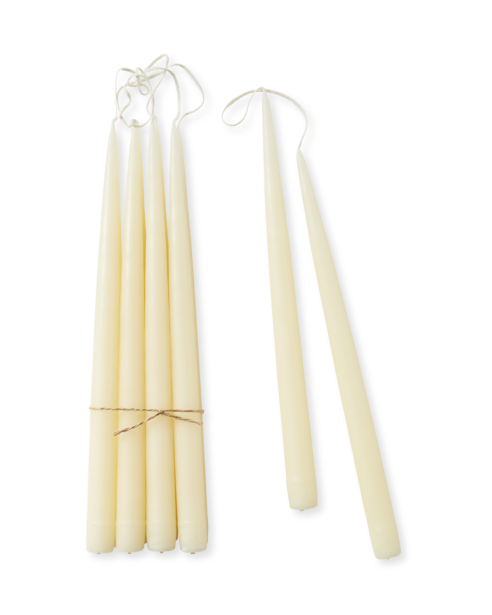 Tapered Candles (Set of 10), Ivory