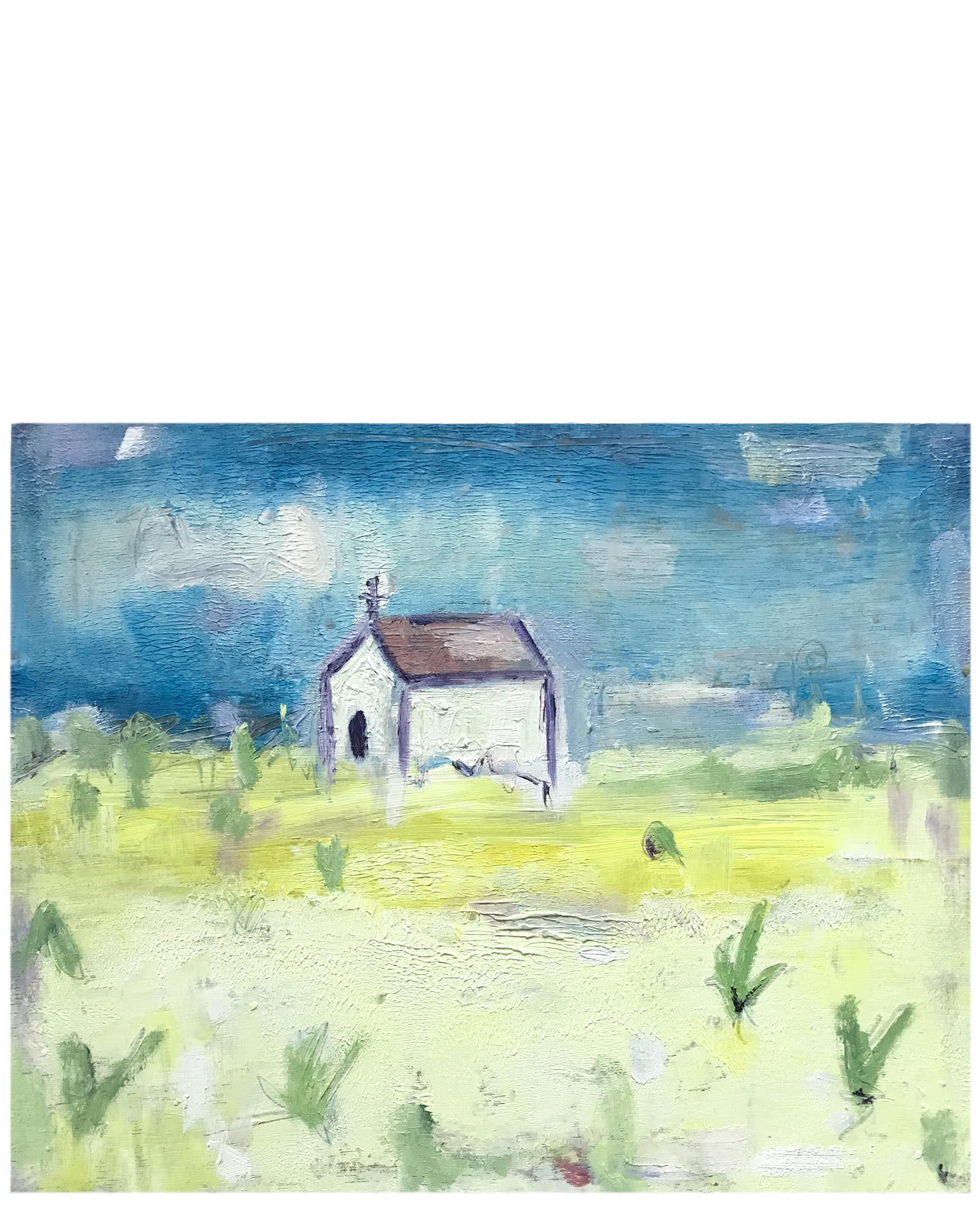 """""""Church on the Hill"""" by Susie Elder,"""