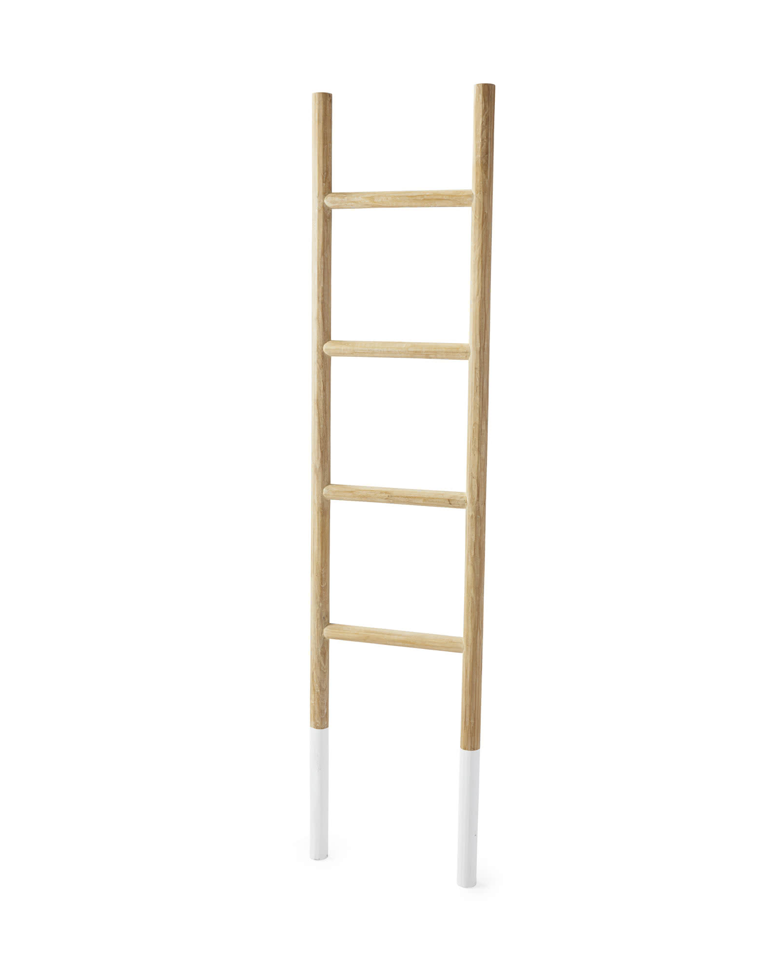 Teak Ladder, White