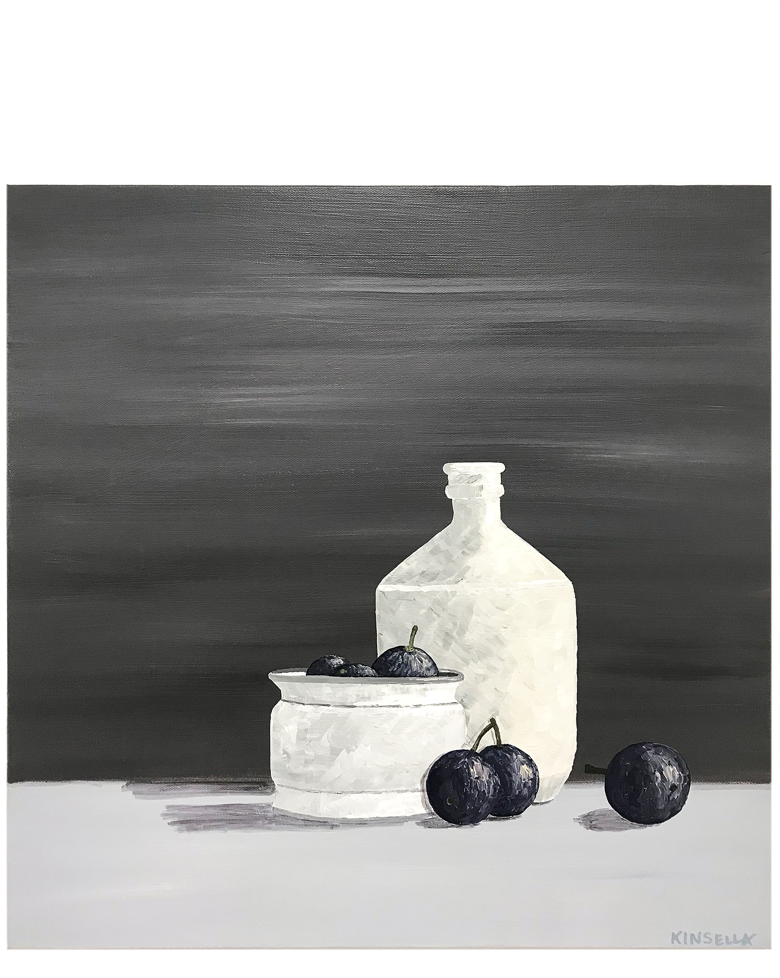 """""""Plums with Crockery"""" by Susan Kinsella,"""