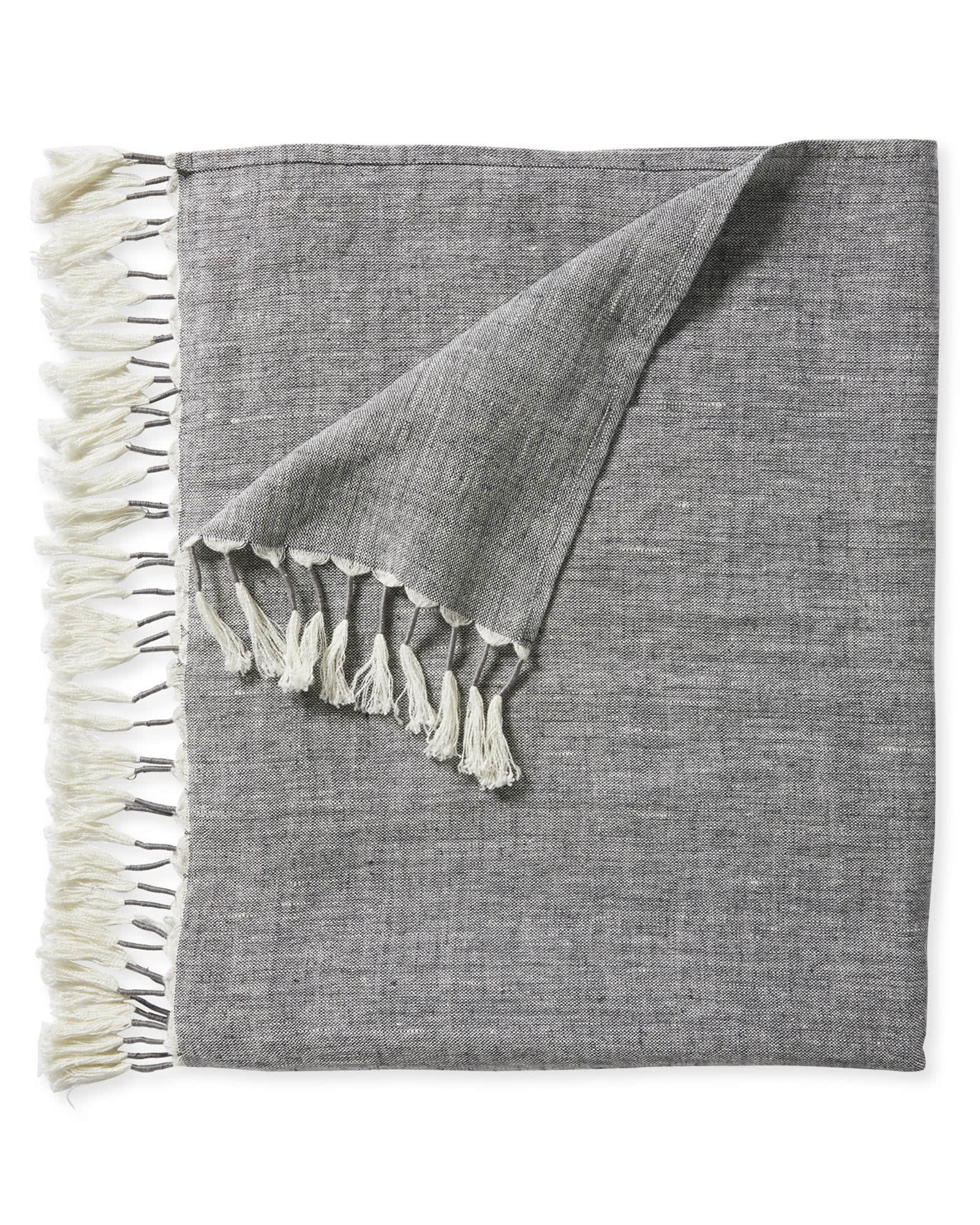 Topanga Linen Throw, Grey