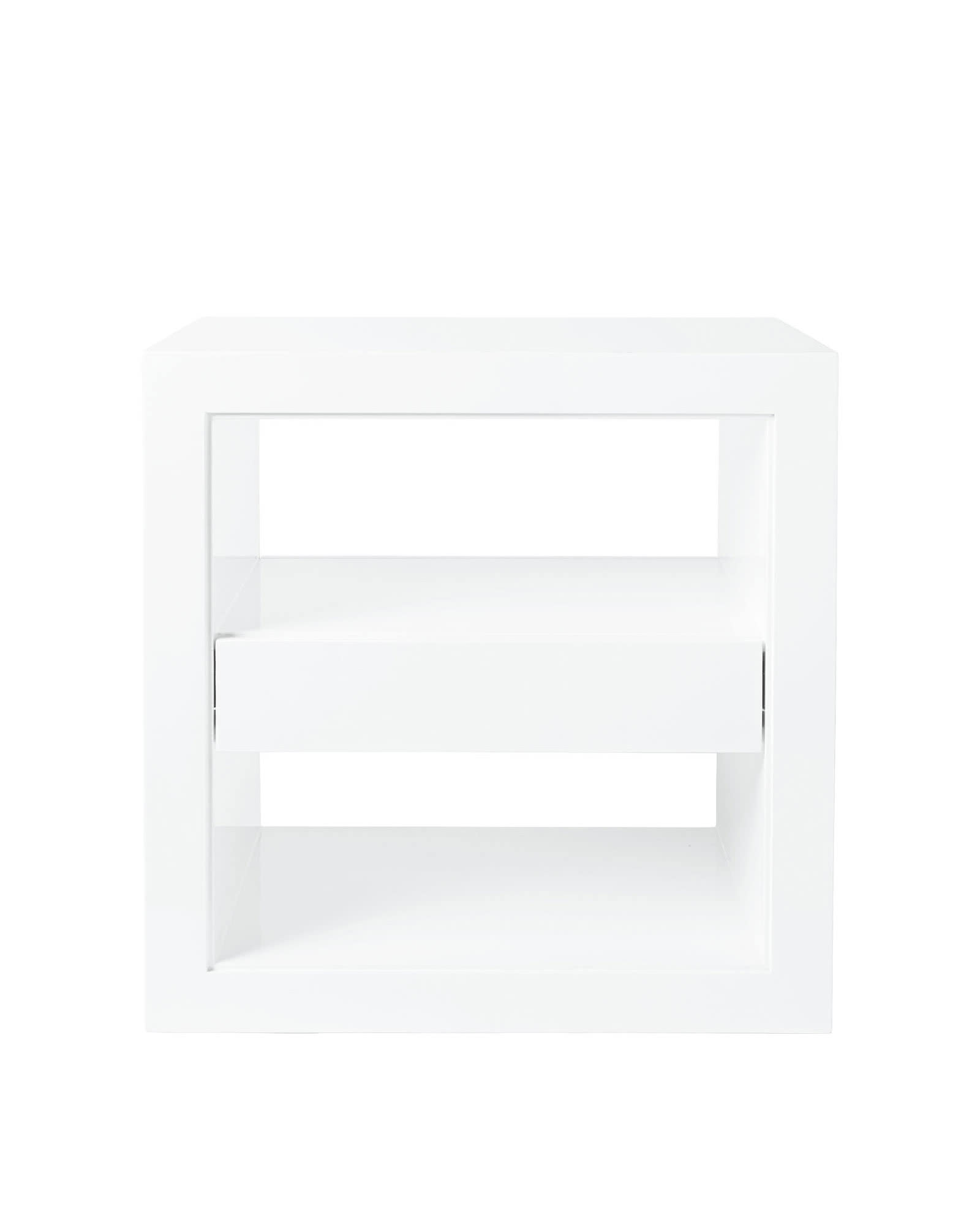 Atelier Side Table With Drawer, White
