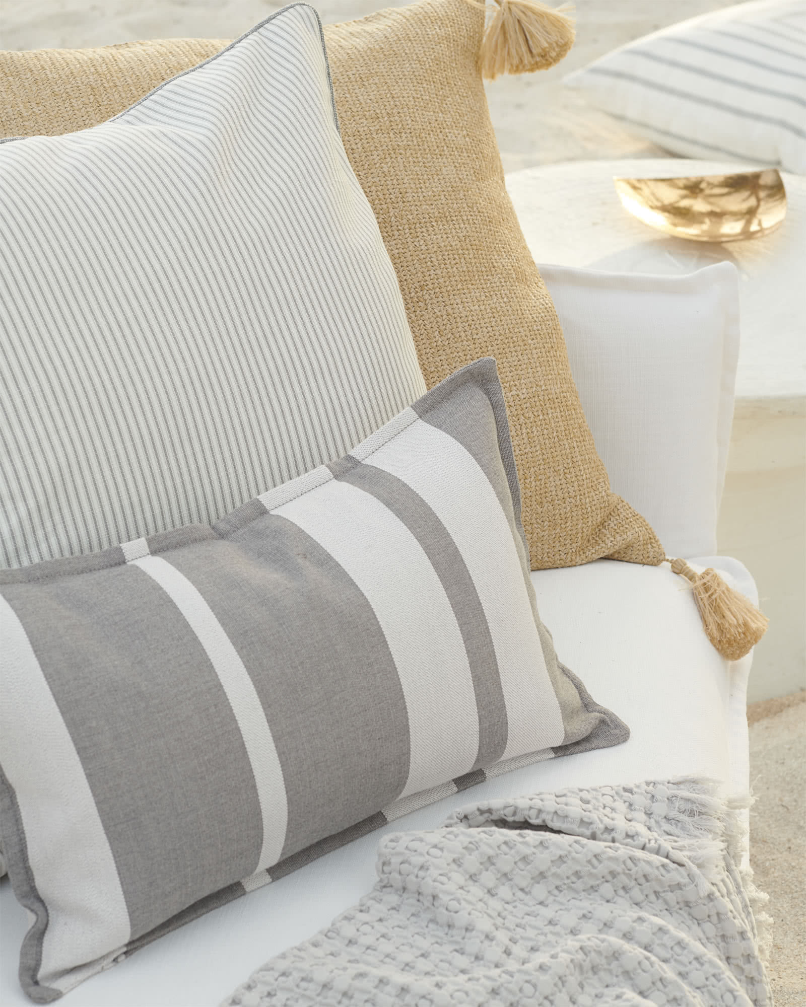 Perennials® Shirting Stripe Outdoor Pillow Cover