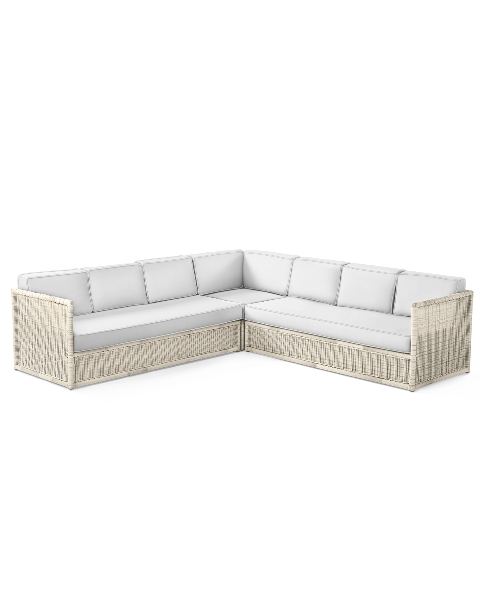 Cushion Cover for Pacifica Corner Sectional, Perennials Basketweave White