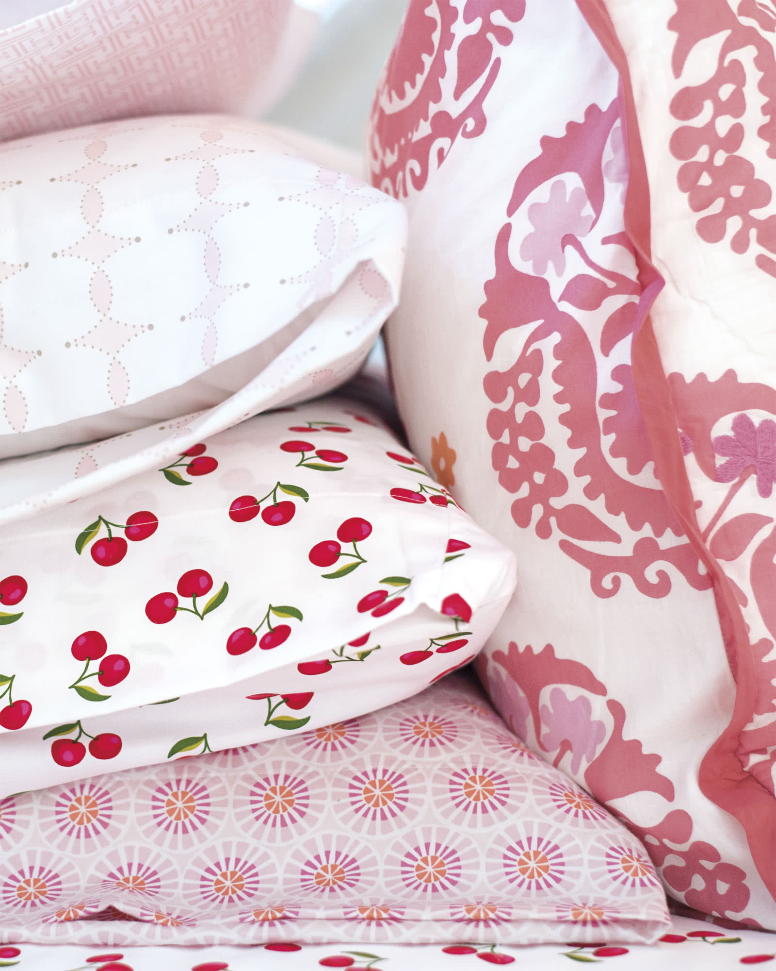 Suzani Quilted Shams - Juice,