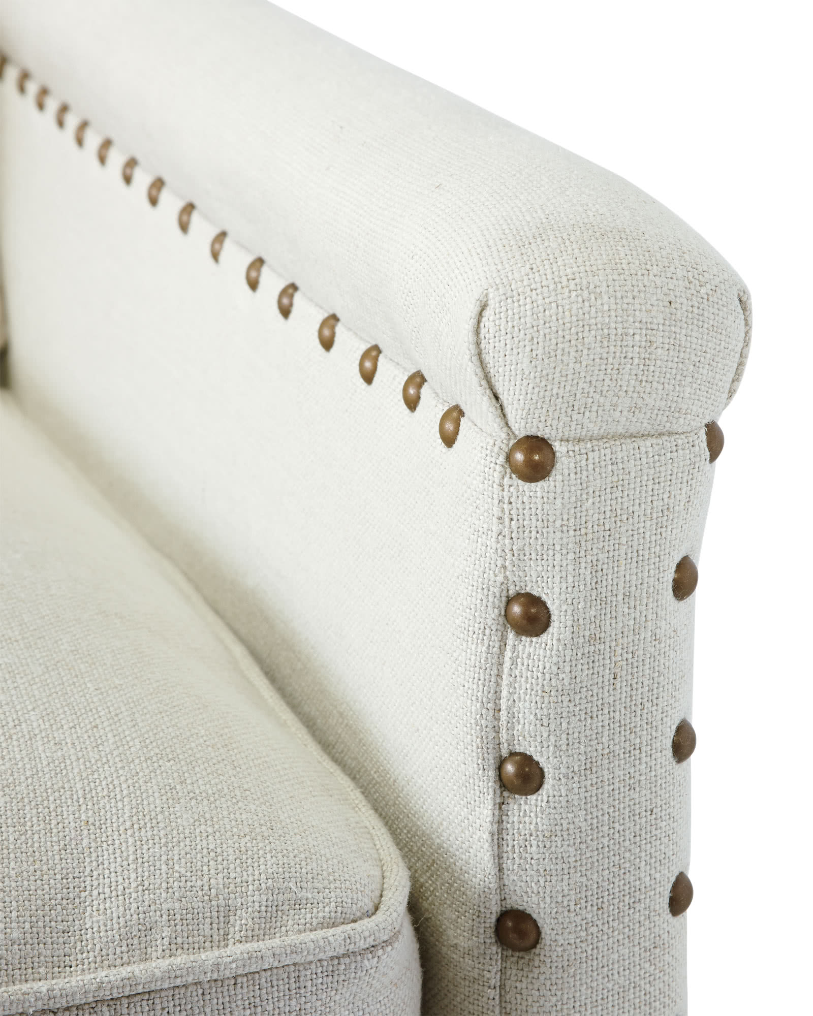 Spruce Street Loveseat with Nailheads,