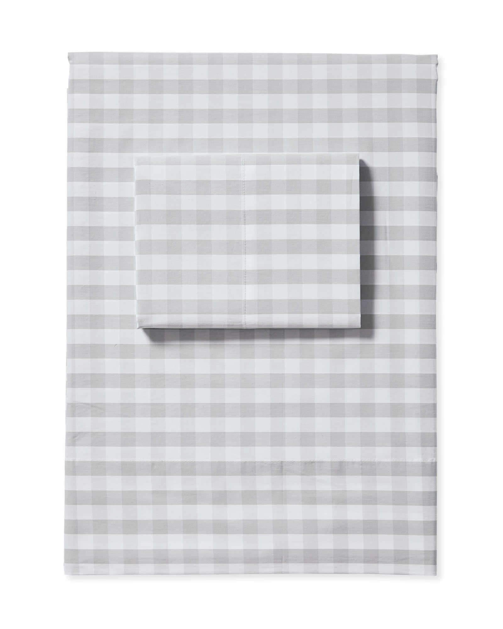 Gingham Sheet Set, Fog