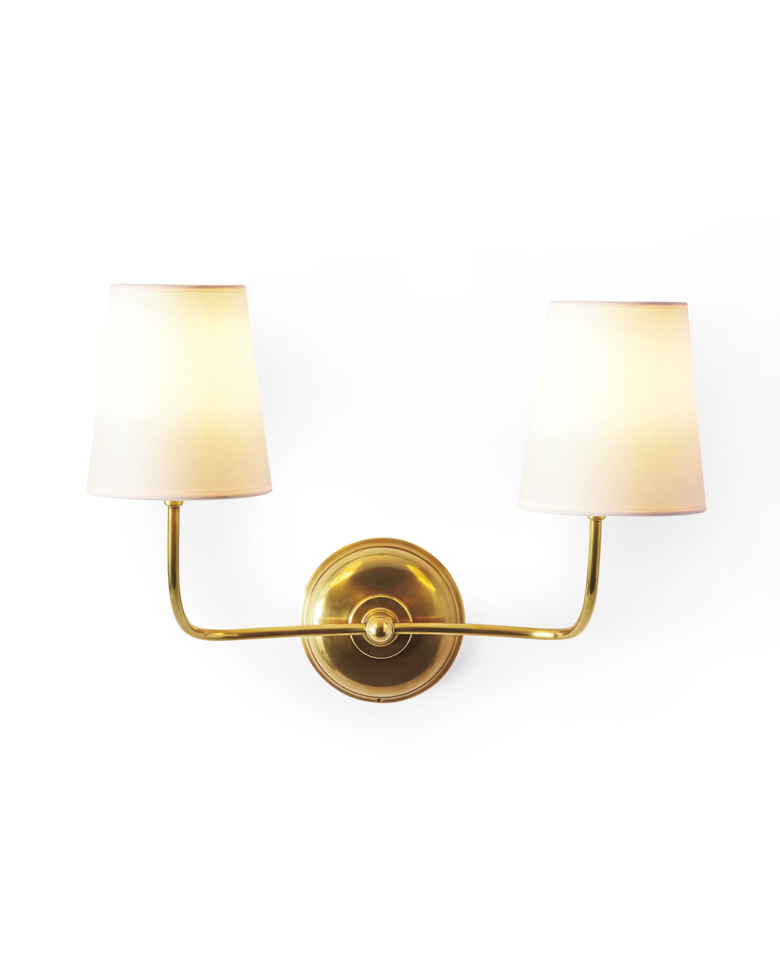 Everett Two-Arm Sconce - Antiqued Brass,