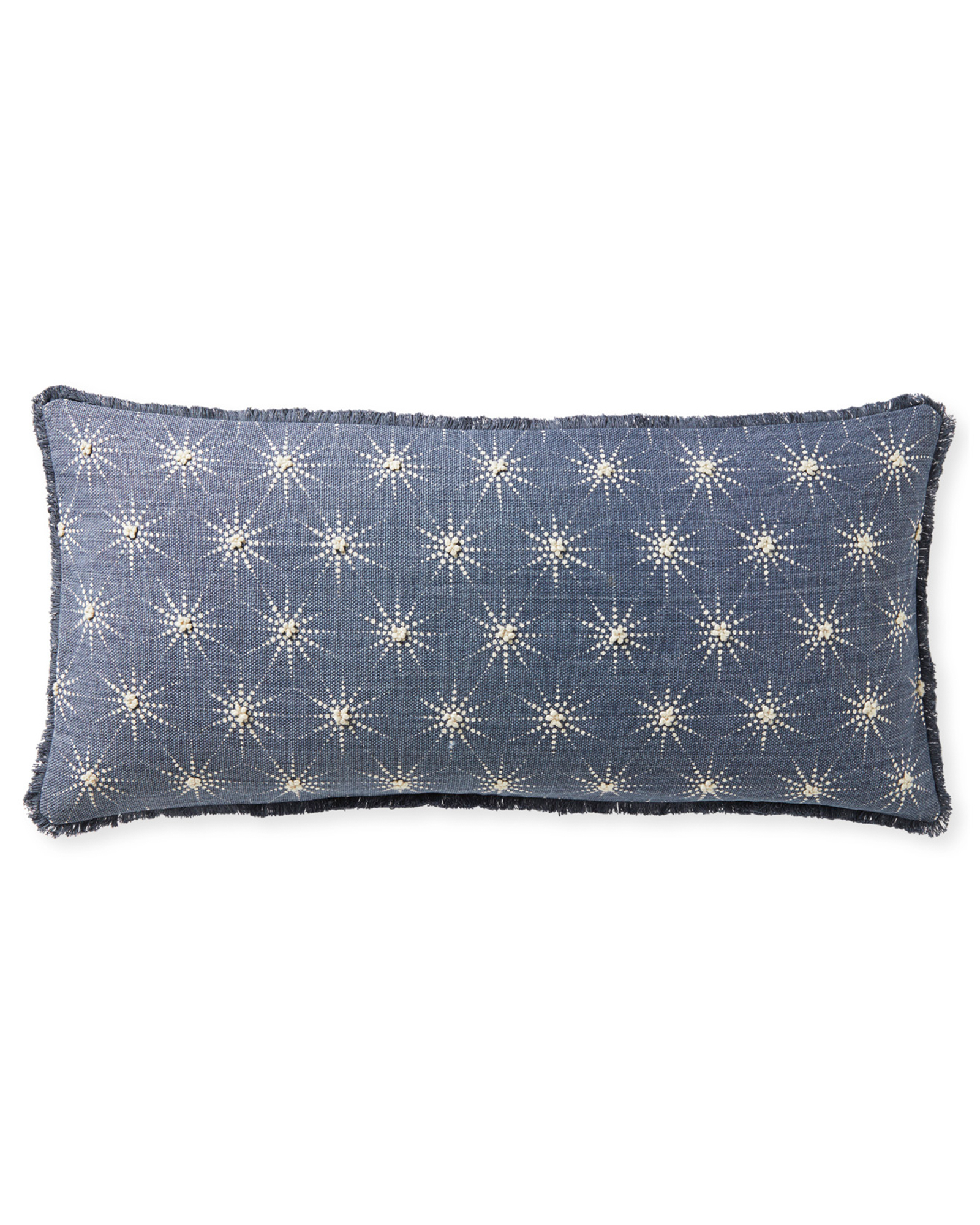 Seascape Pillow Cover, Washed Indigo
