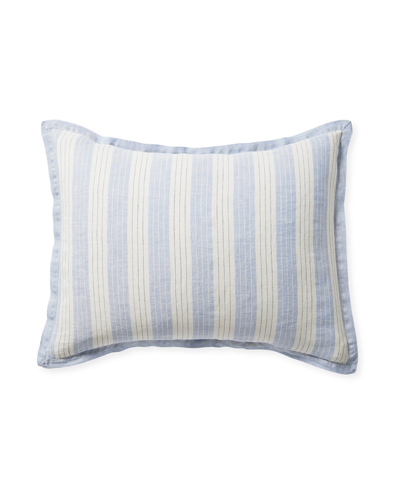 Porto Linen Shams, Blue Chambray
