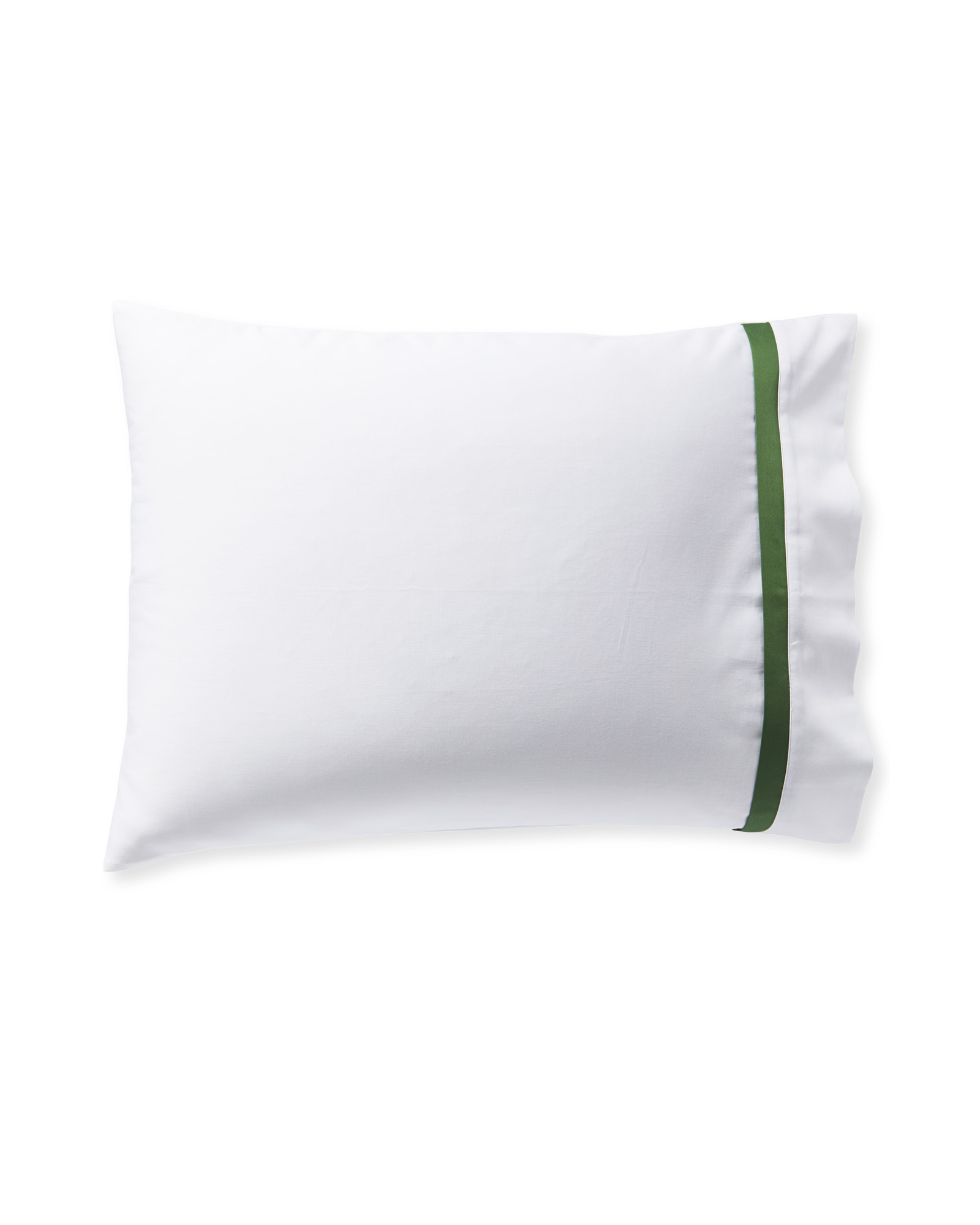 Border Frame Pillowcases (Set of 2), Moss
