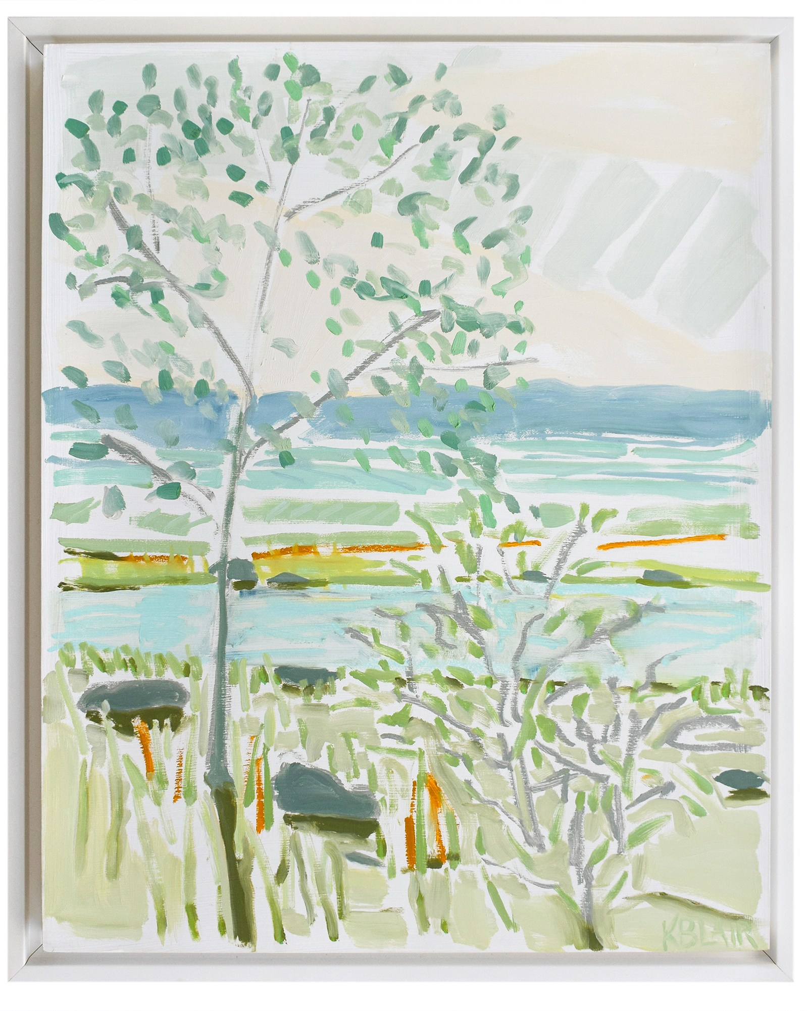 """""""Tress by the Water I"""" by Karen Blair,"""
