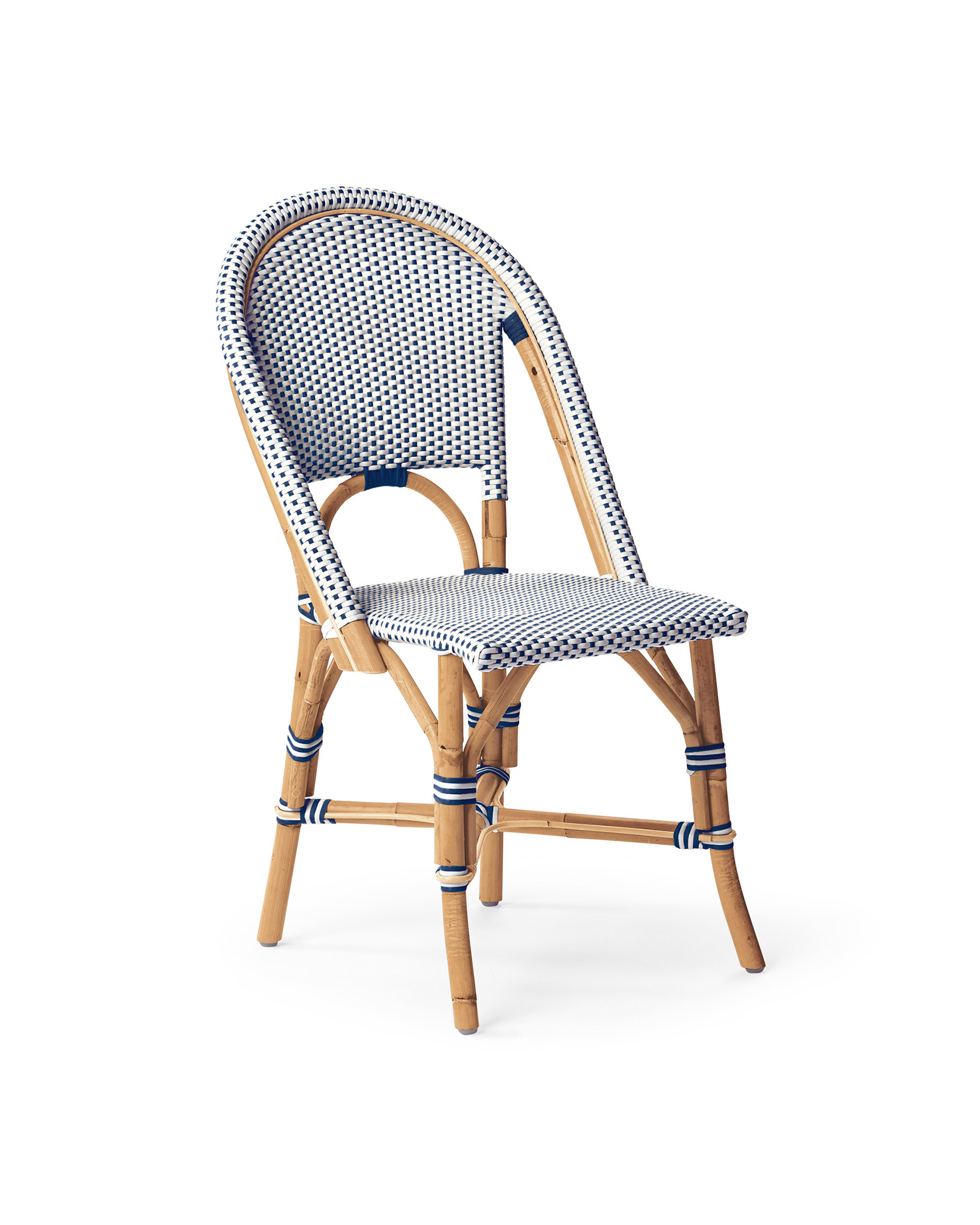 Riviera Side Chair, Navy/White