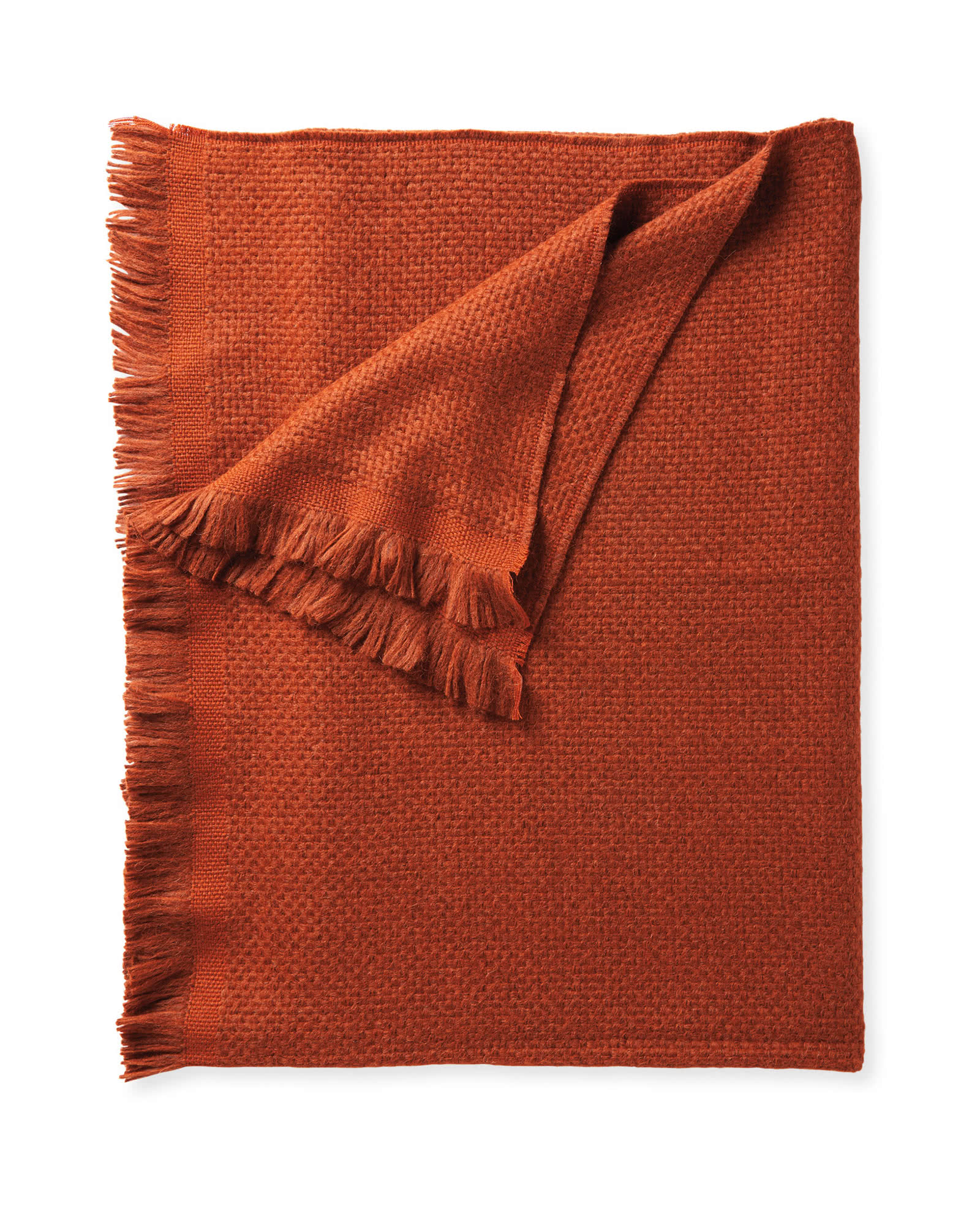 Milo Alpaca Throw, Terracotta