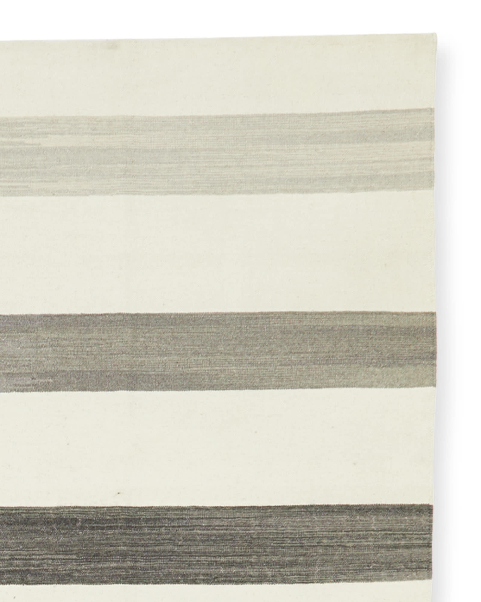 Playa Stripe Dhurrie, Charcoal