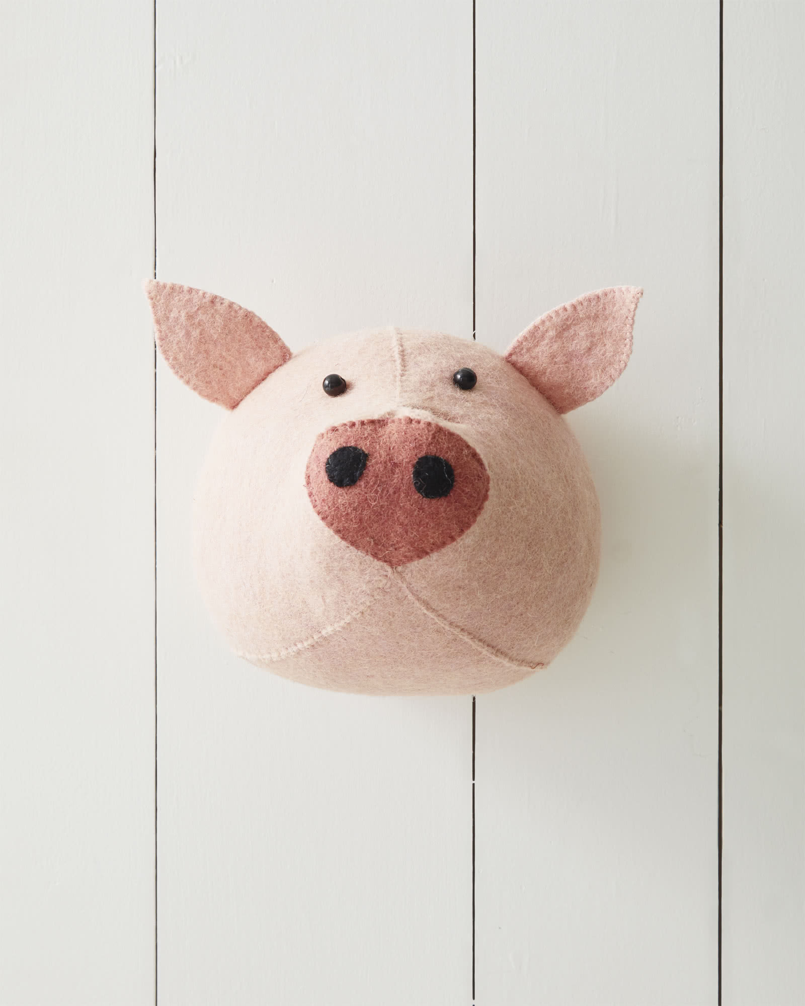 Felted Wool Wall Animal – Pig,