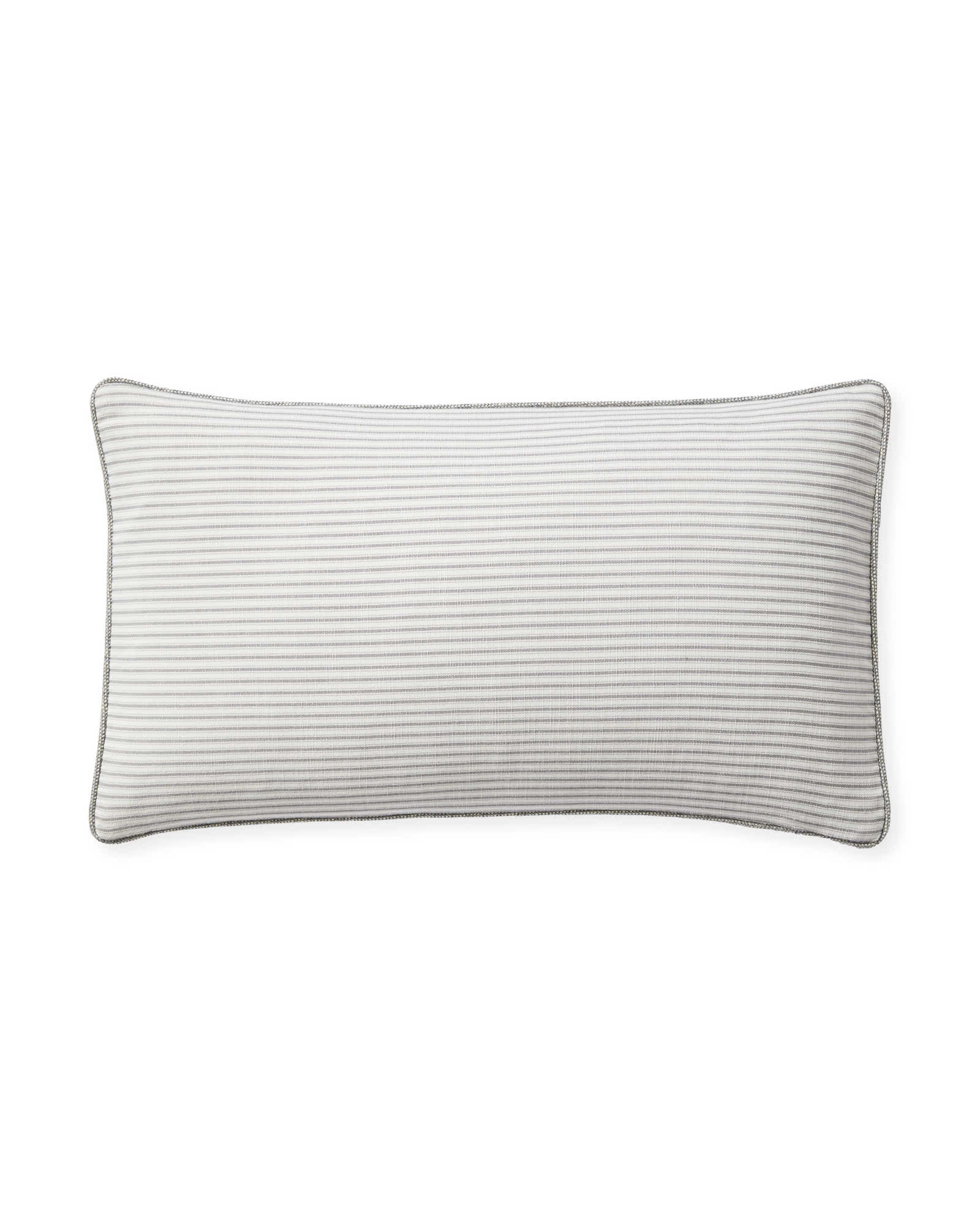 Perennials® Shirting Stripe Outdoor Pillow Cover, Pewter