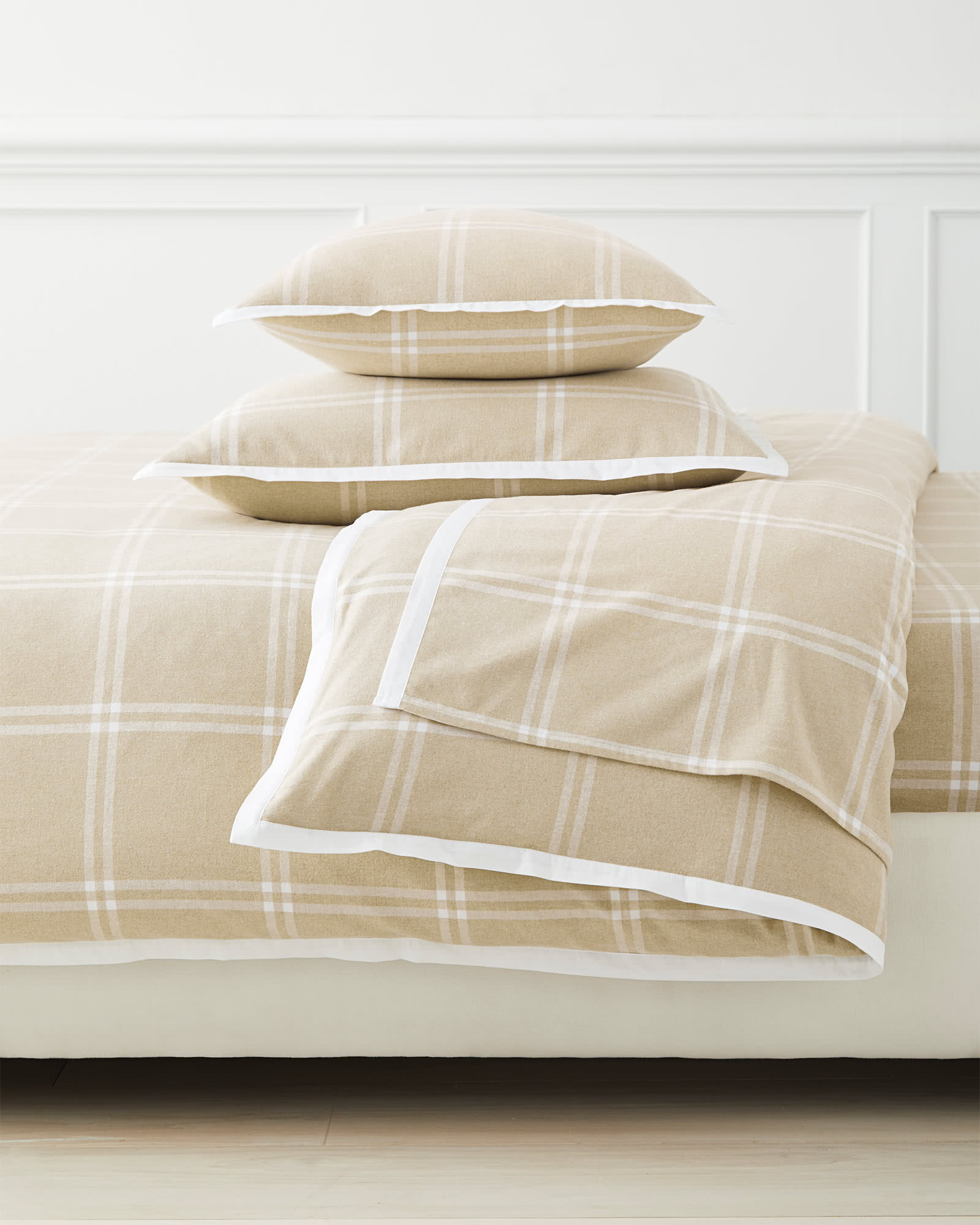 Alpine Flannel Duvet Cover, Camel