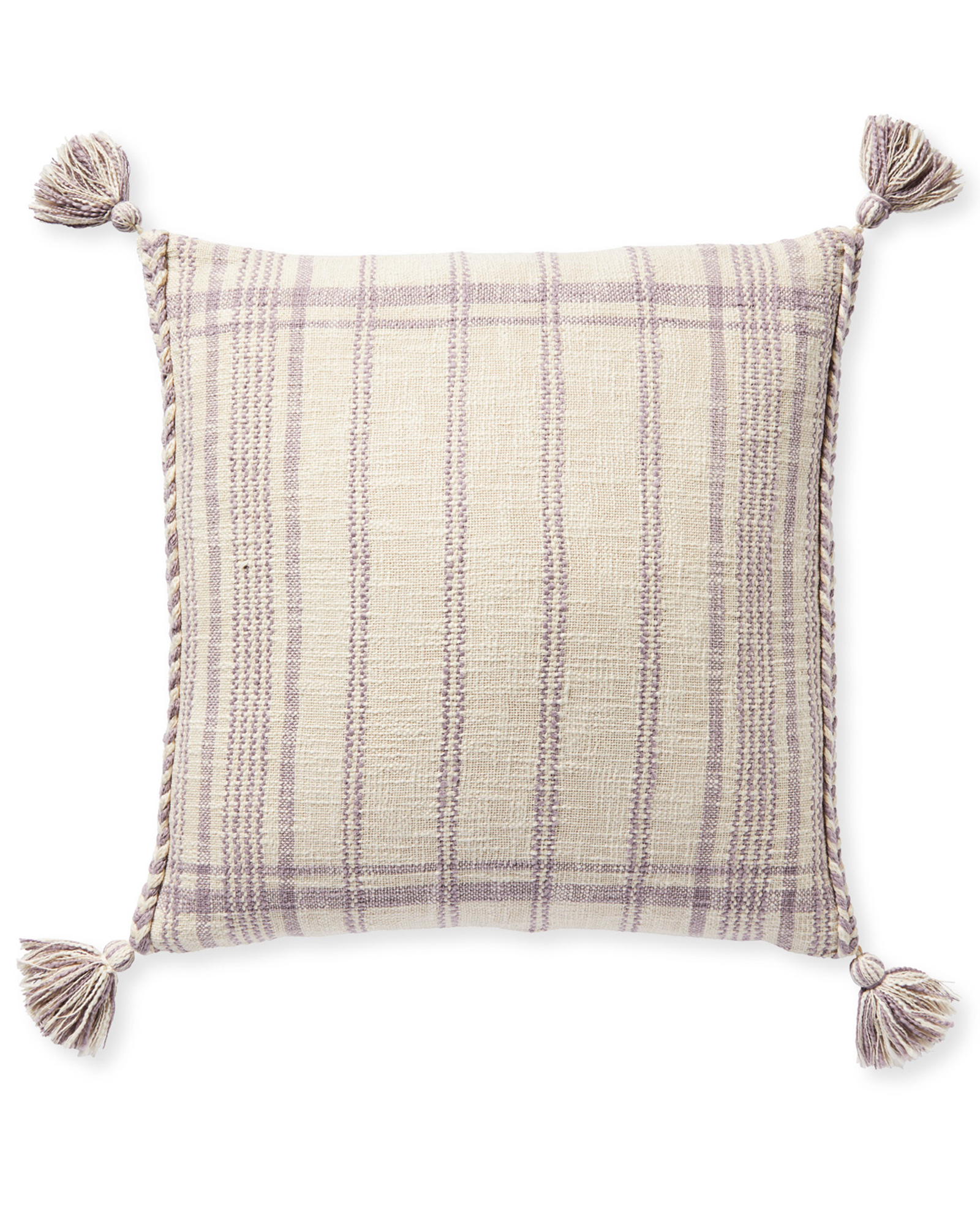 Ridge Stripe Pillow Cover, Lavender