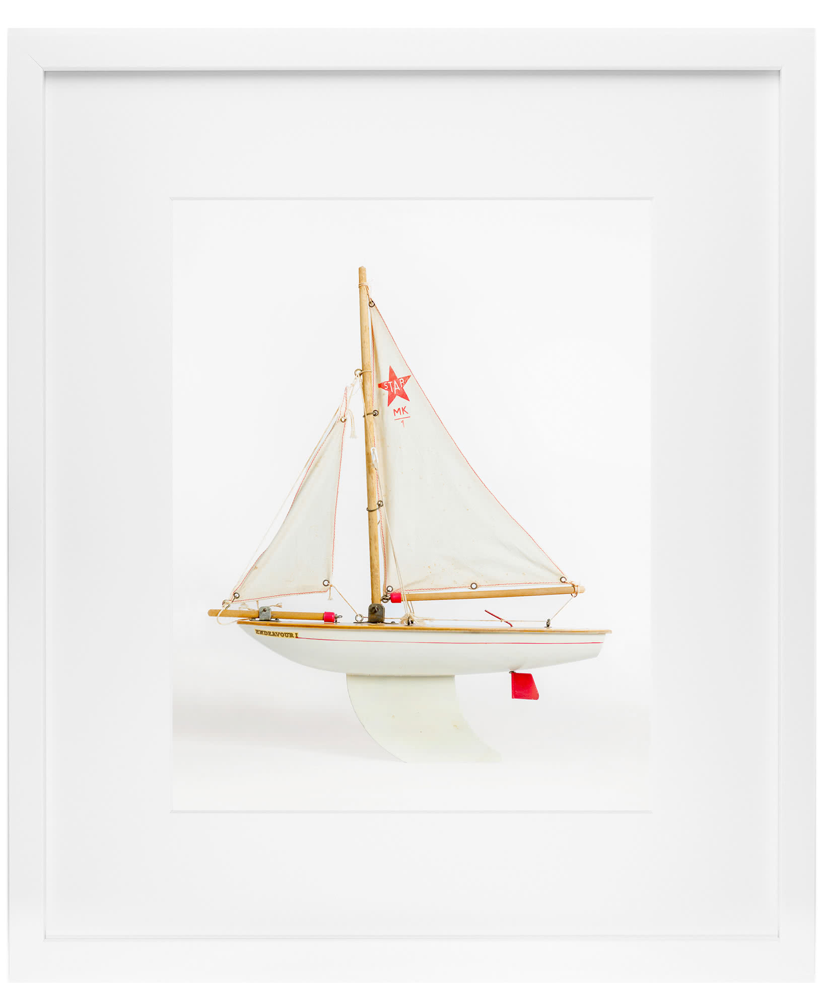 """White Boat"" by Leslee Mitchell,"