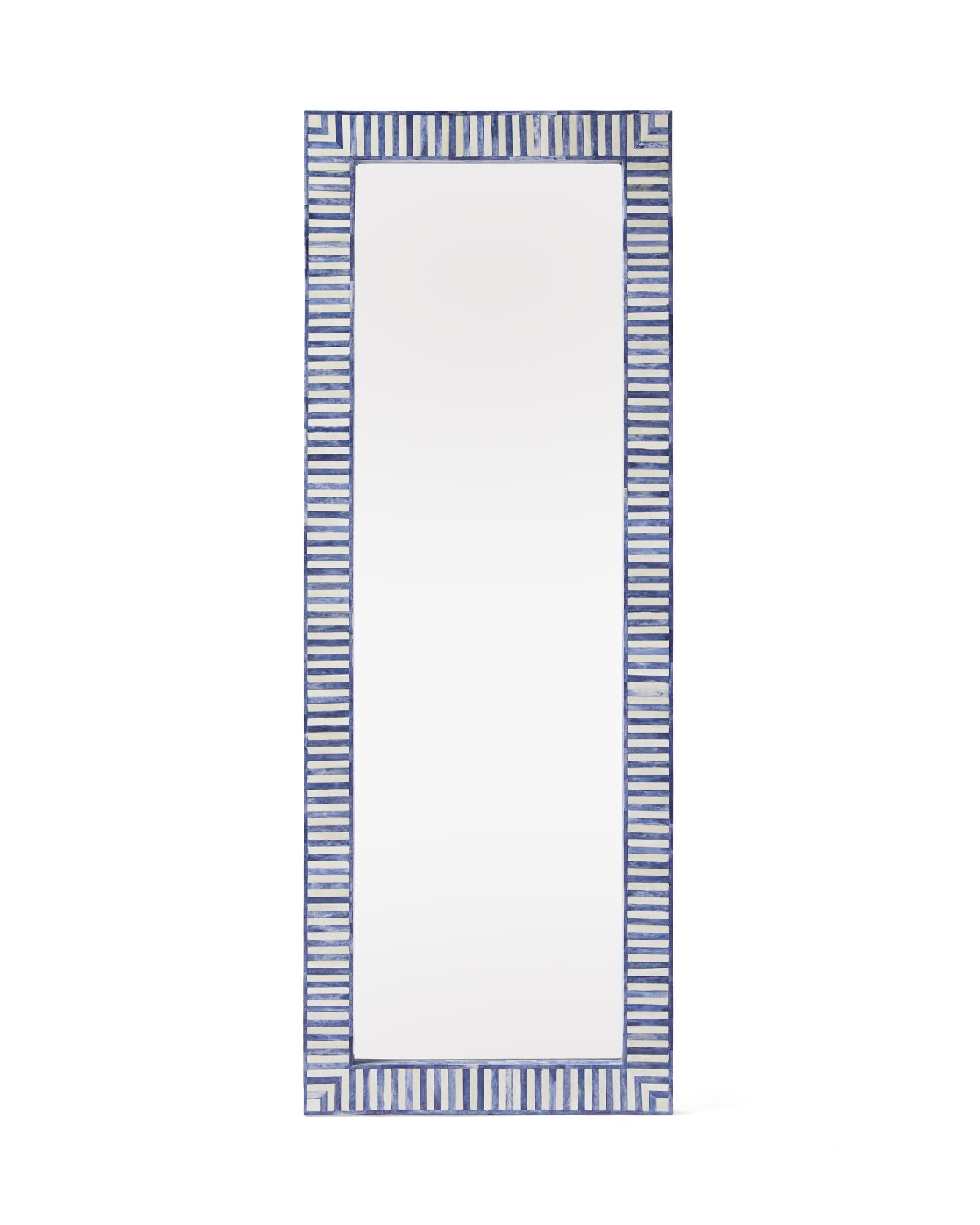 Bar Harbor Bone Inlay Floor Mirror,