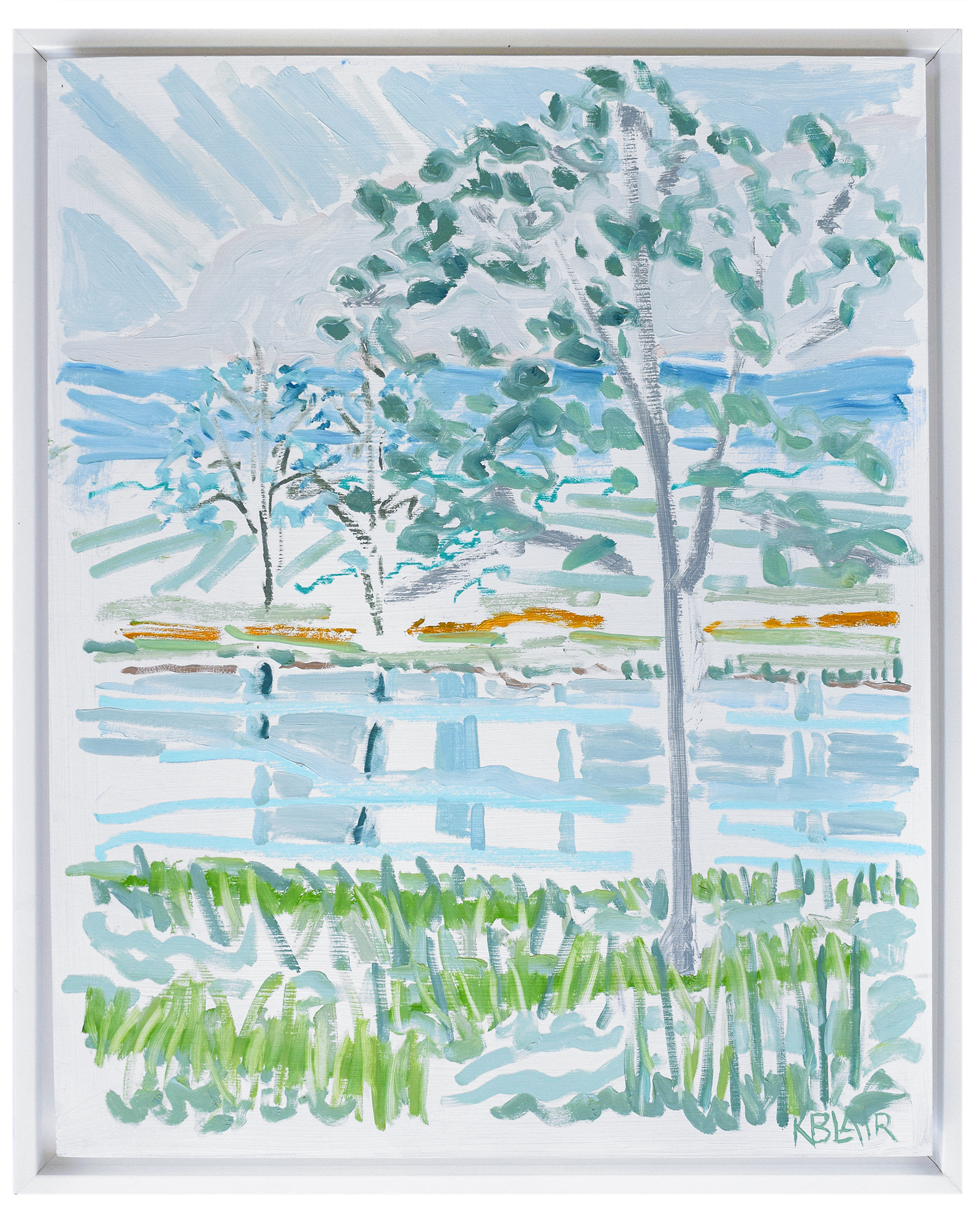 """Tress by the Water II"" by Karen Blair,"