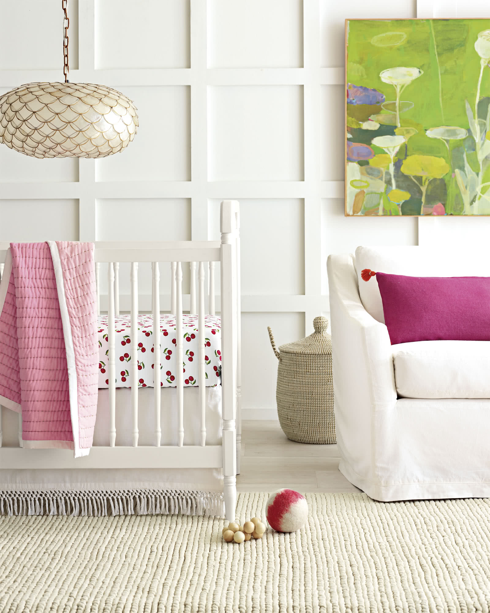 Cherries Crib Sheet