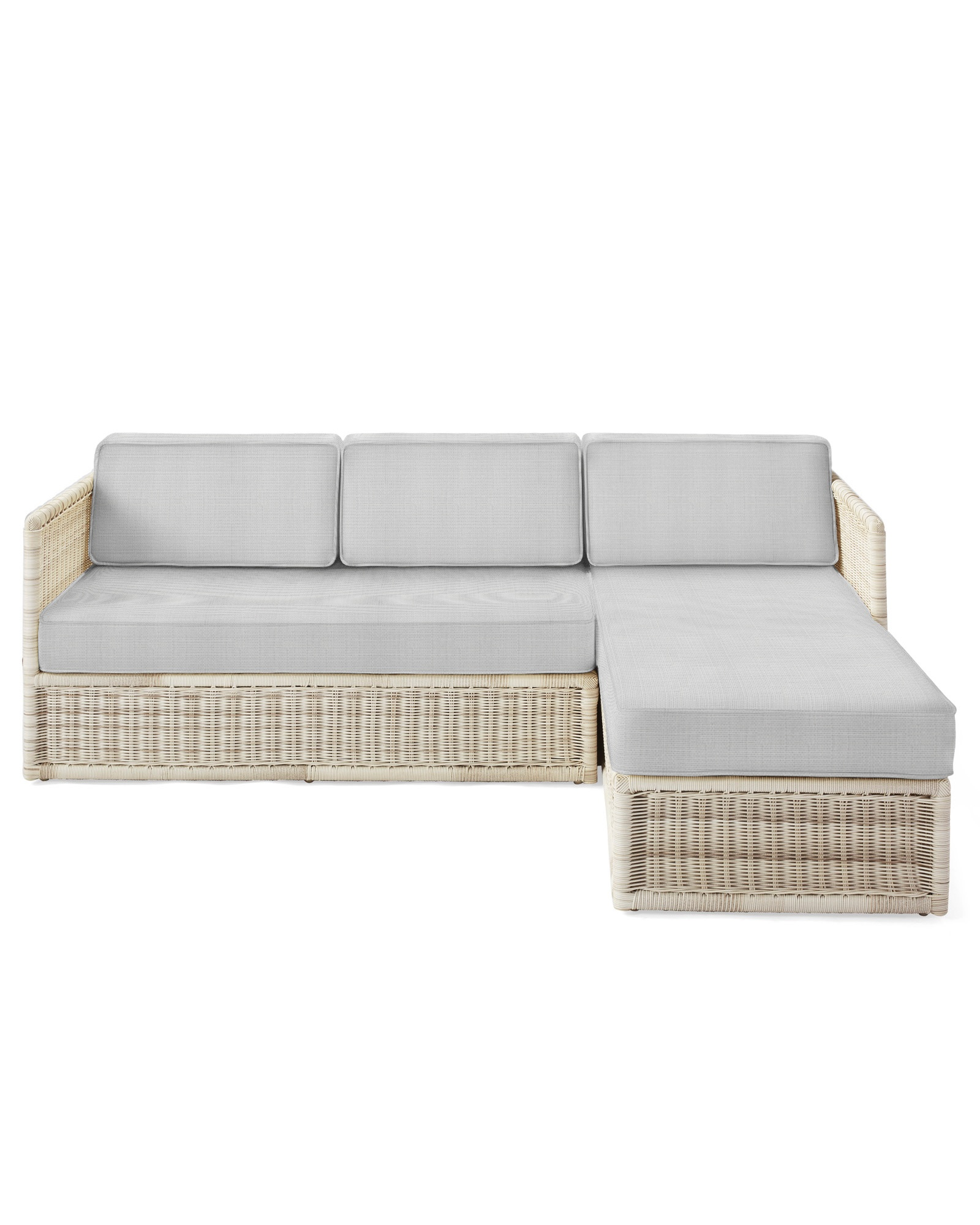 Cushion Cover for Pacifica Chaise Sectional, Perennials Basketweave Fog