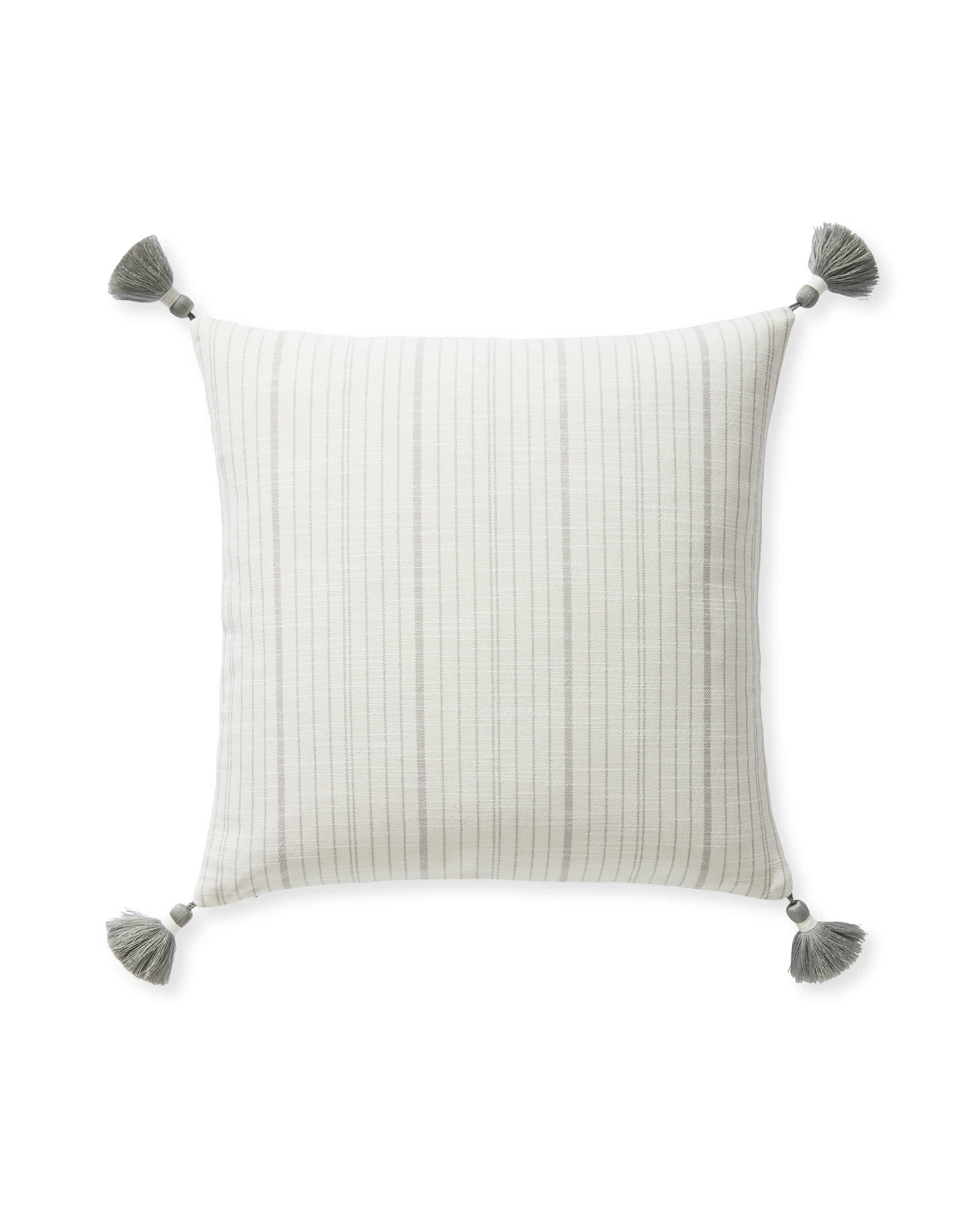 Surf Stripe Outdoor Pillow Cover, Smoke