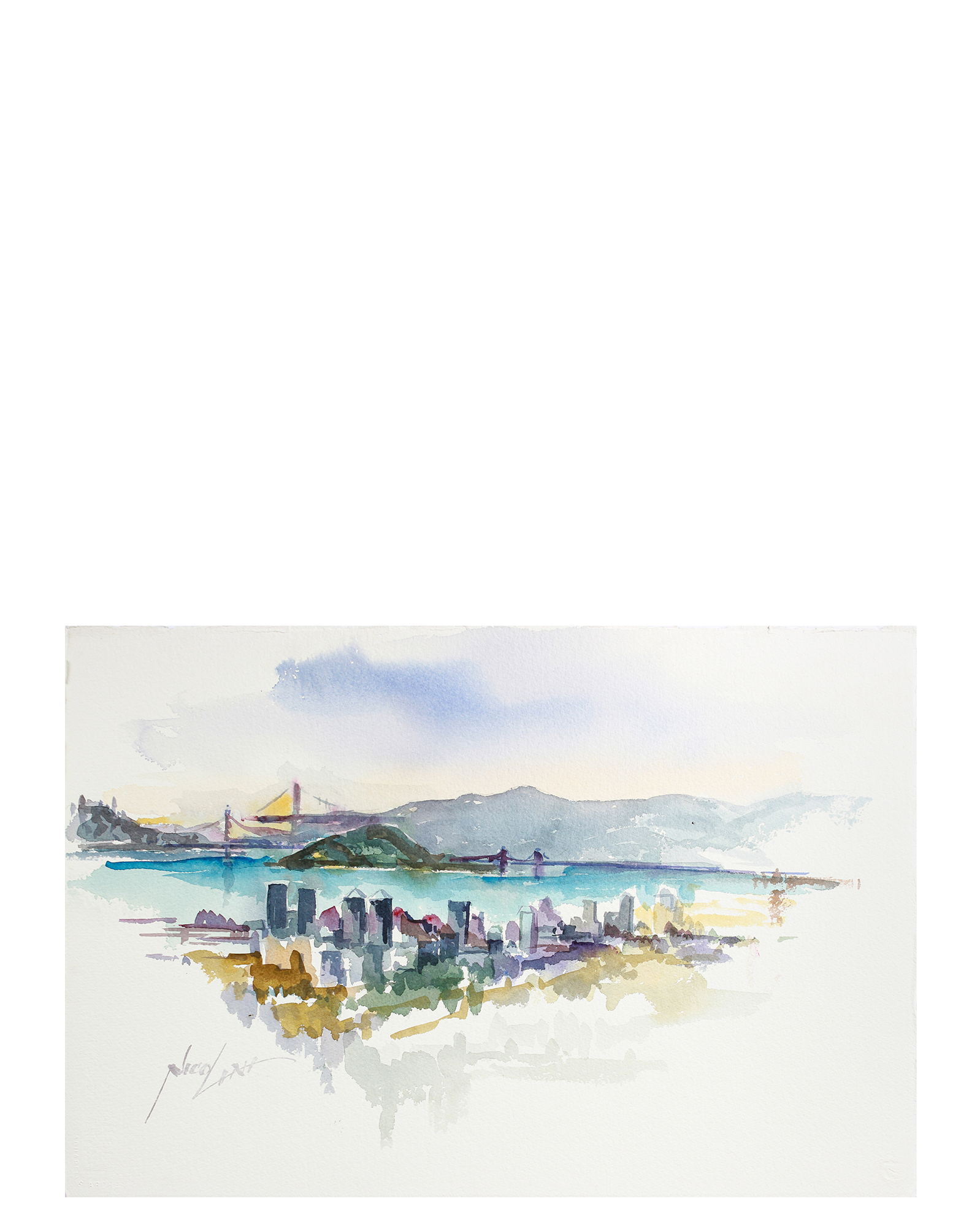 """""""View of the Bay"""" by John Nicolini,"""