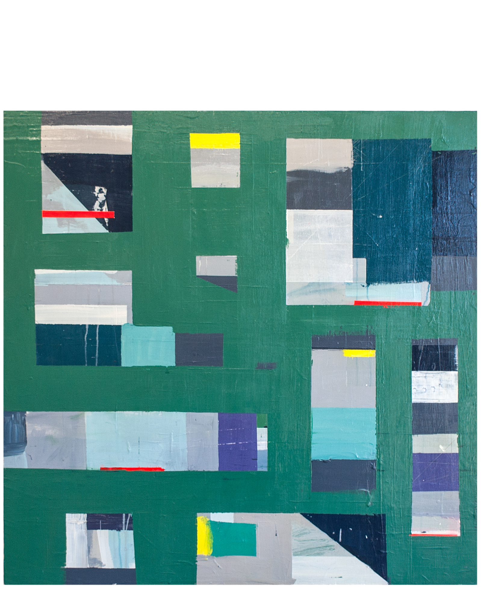 """""""Green Geometric"""" by Megan Donnelly,"""