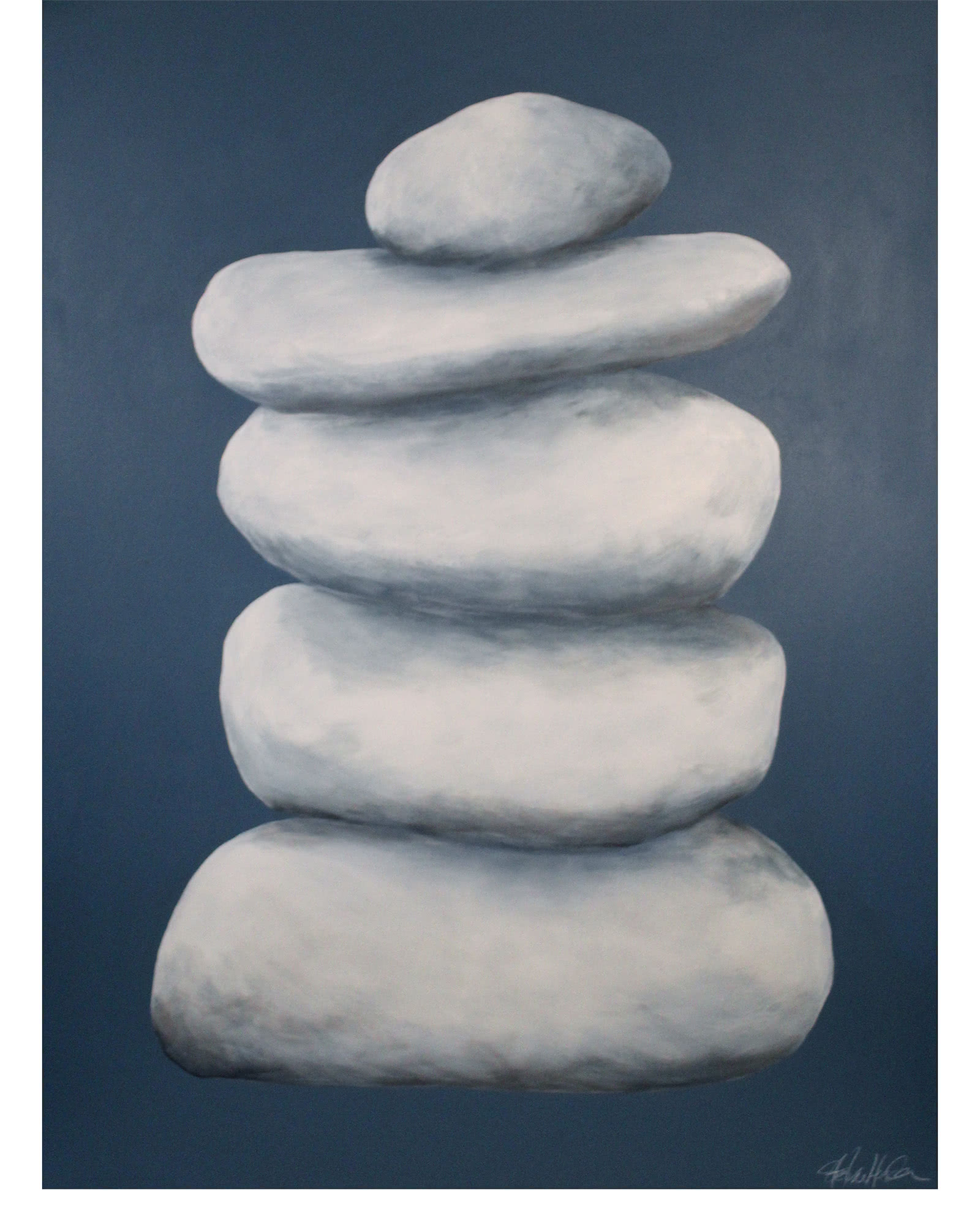 """""""Towering Cairn on Stormy Blue"""" by Stephanie Henderson"""