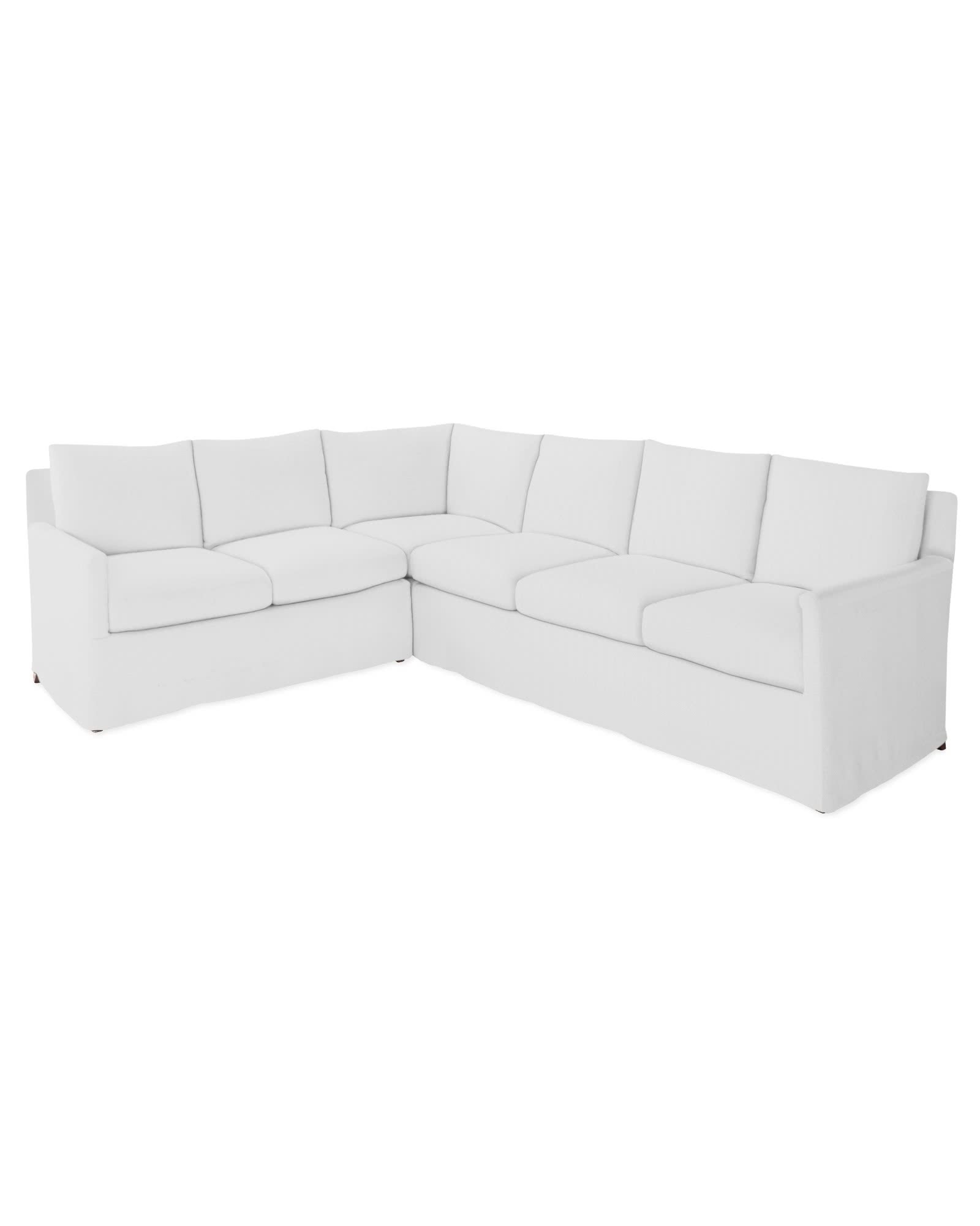 Spruce Street Left-Facing L-Sectional – Slipcovered