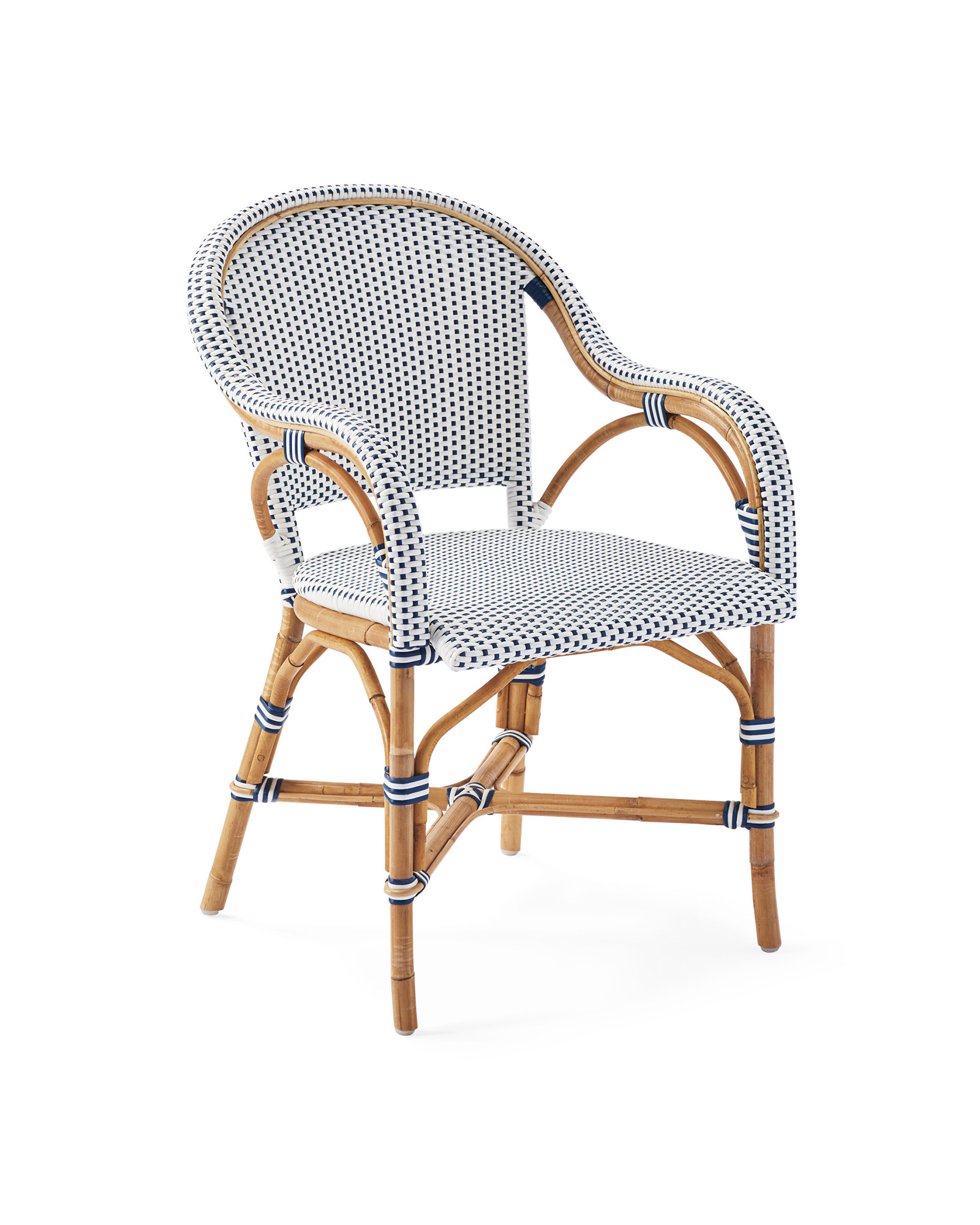 Riviera Dining Chair, Navy/White