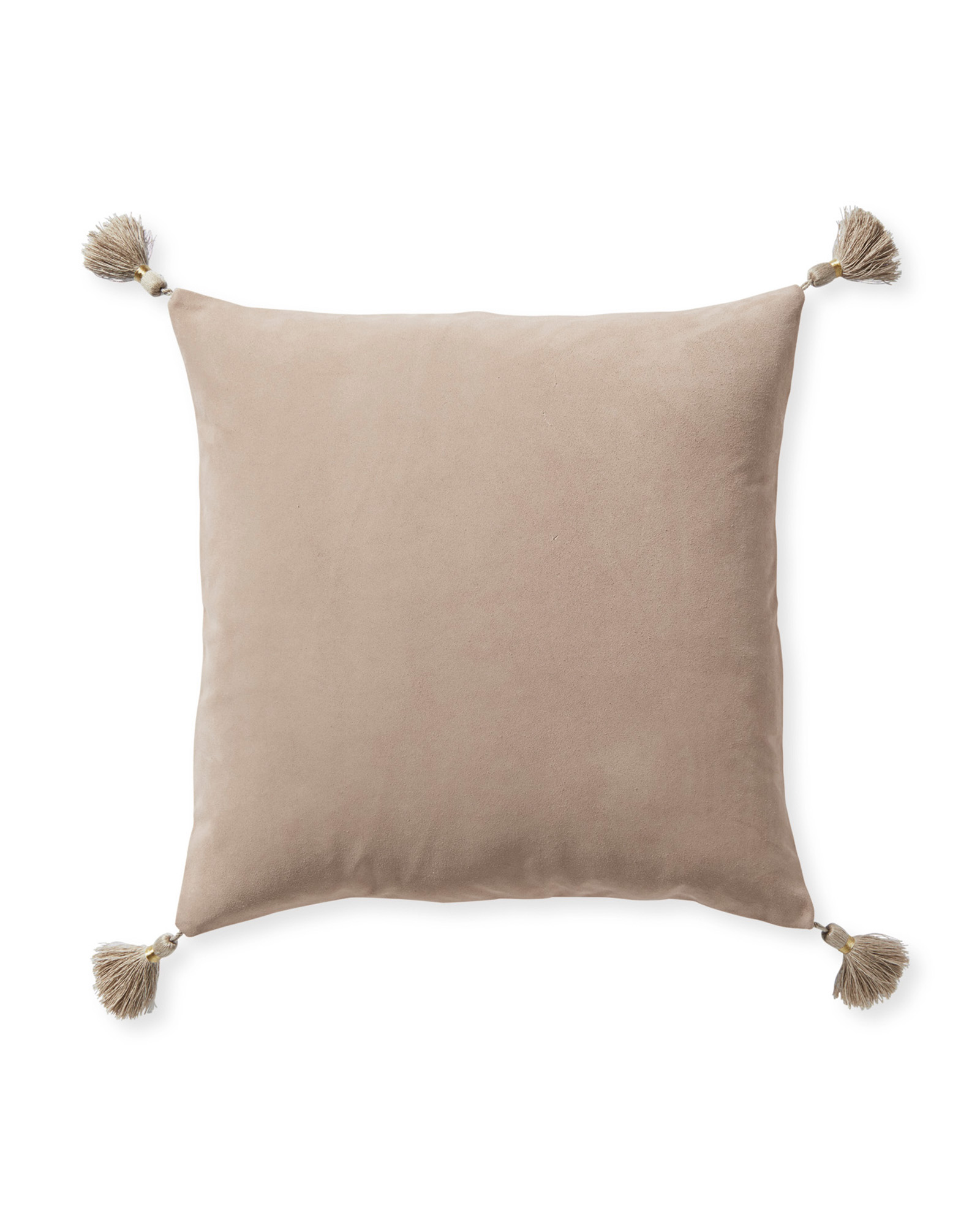 Suede Eva Pillow Cover, Pink Sand