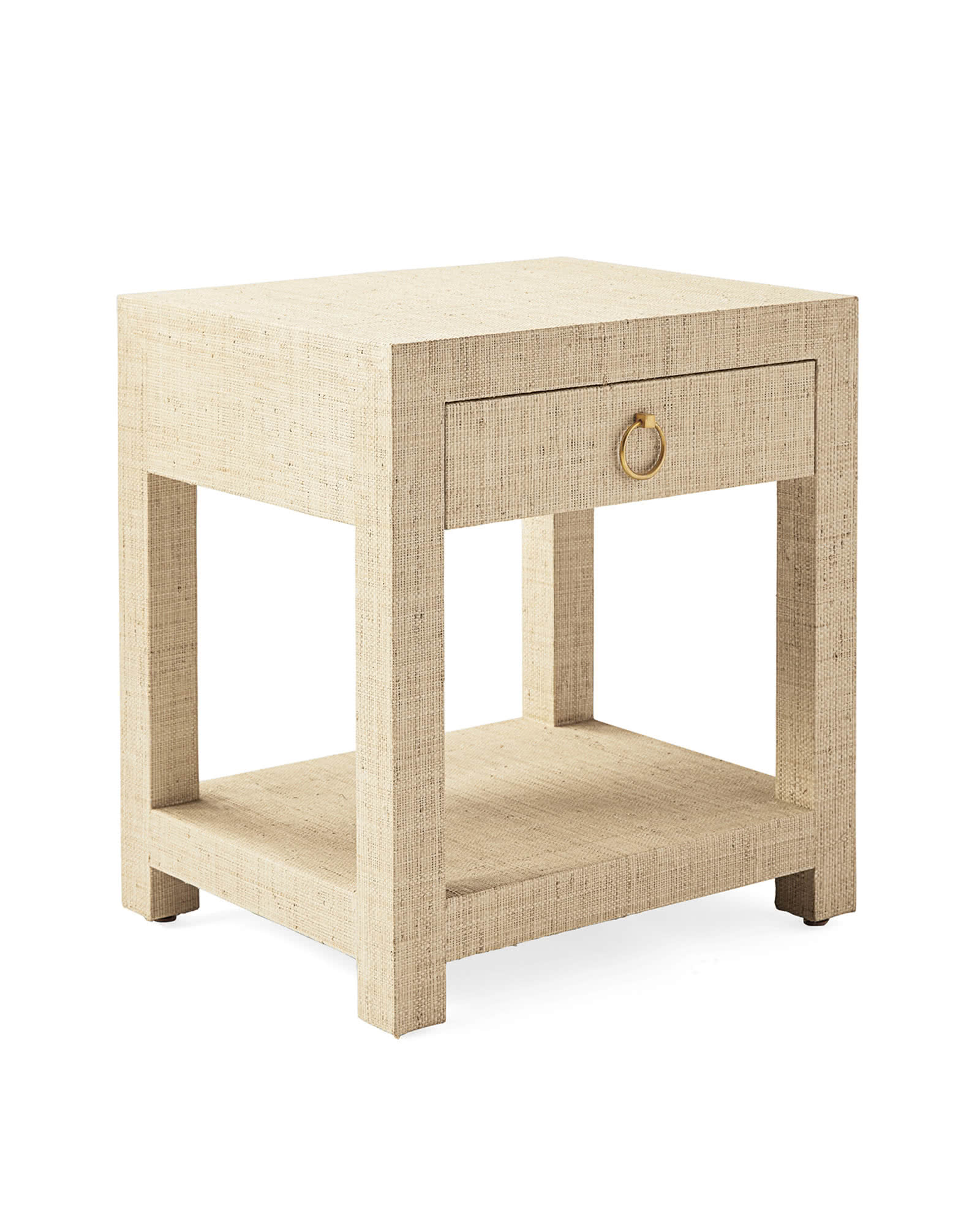 Blake Raffia 1-Drawer Nightstand, Natural