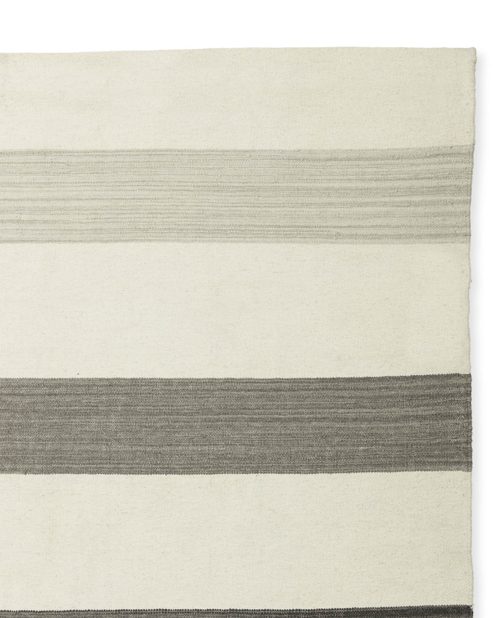 Playa Stripe Dhurrie - Charcoal,