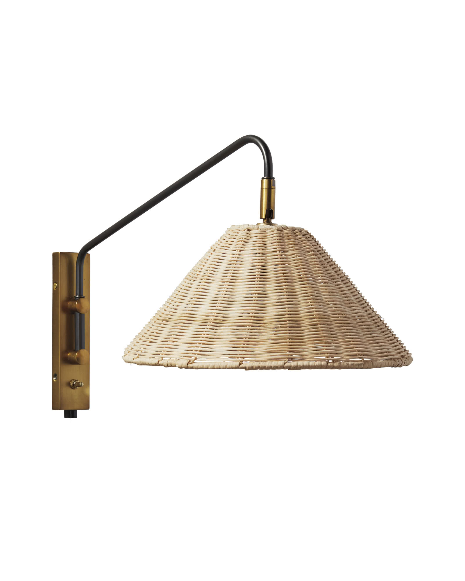 Flynn Single Wall Sconce, Wicker