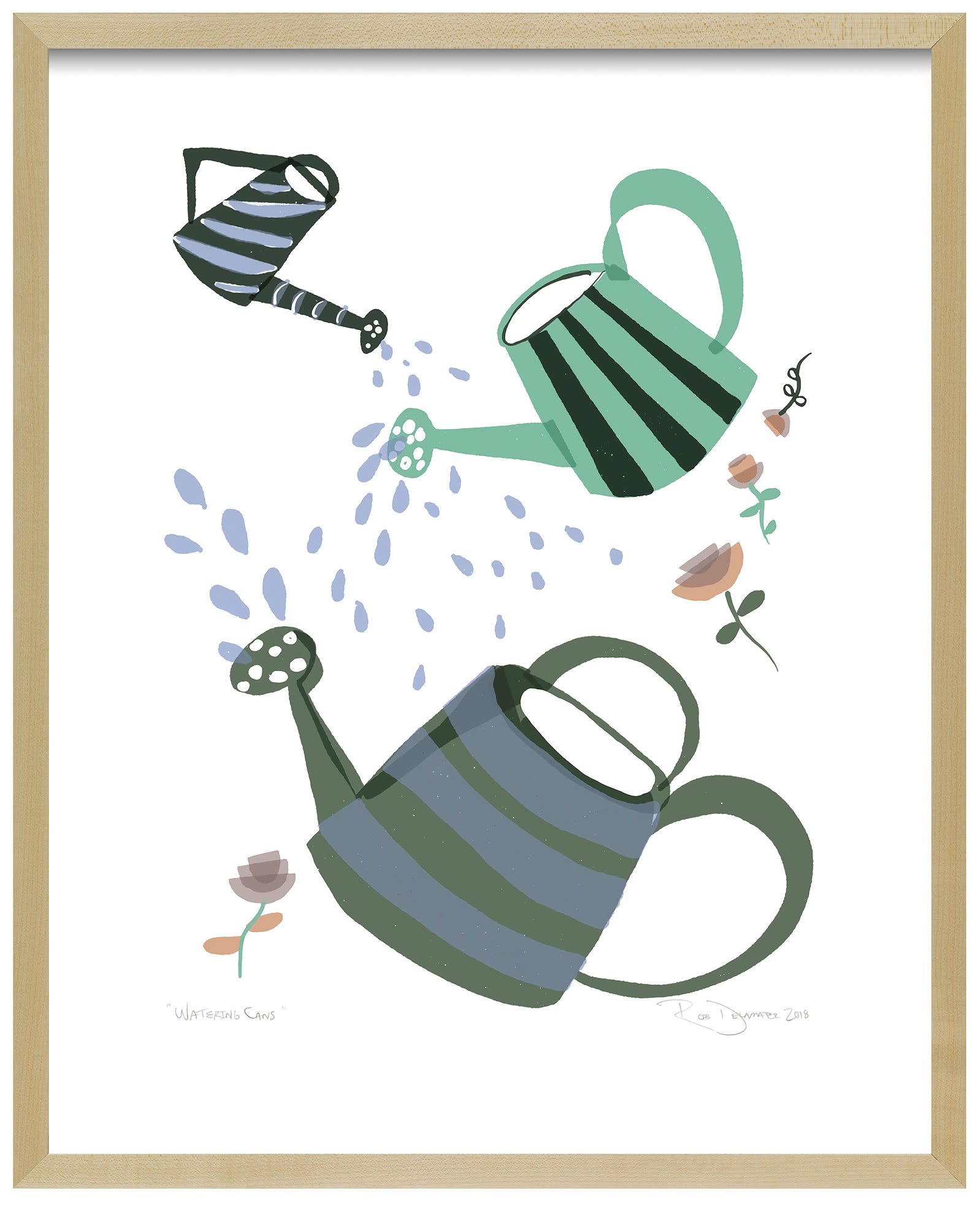 """""""Watering Cans"""" by Rob Delamater,"""