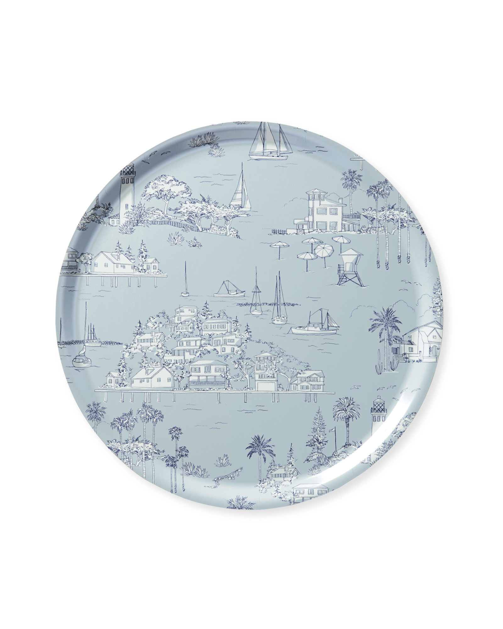 Westwind Toile Tray - Round,