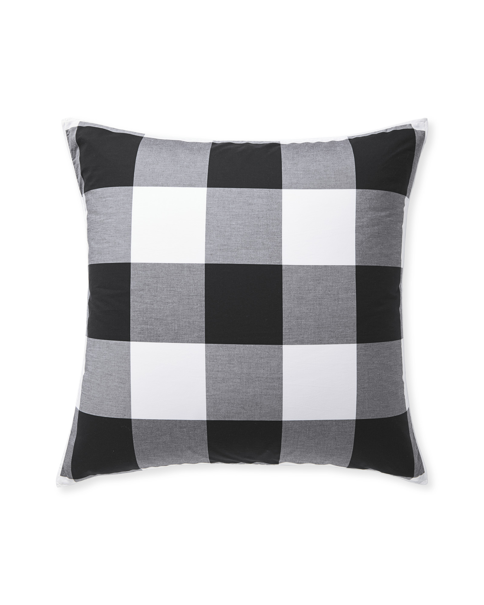 Gingham Shams, Black