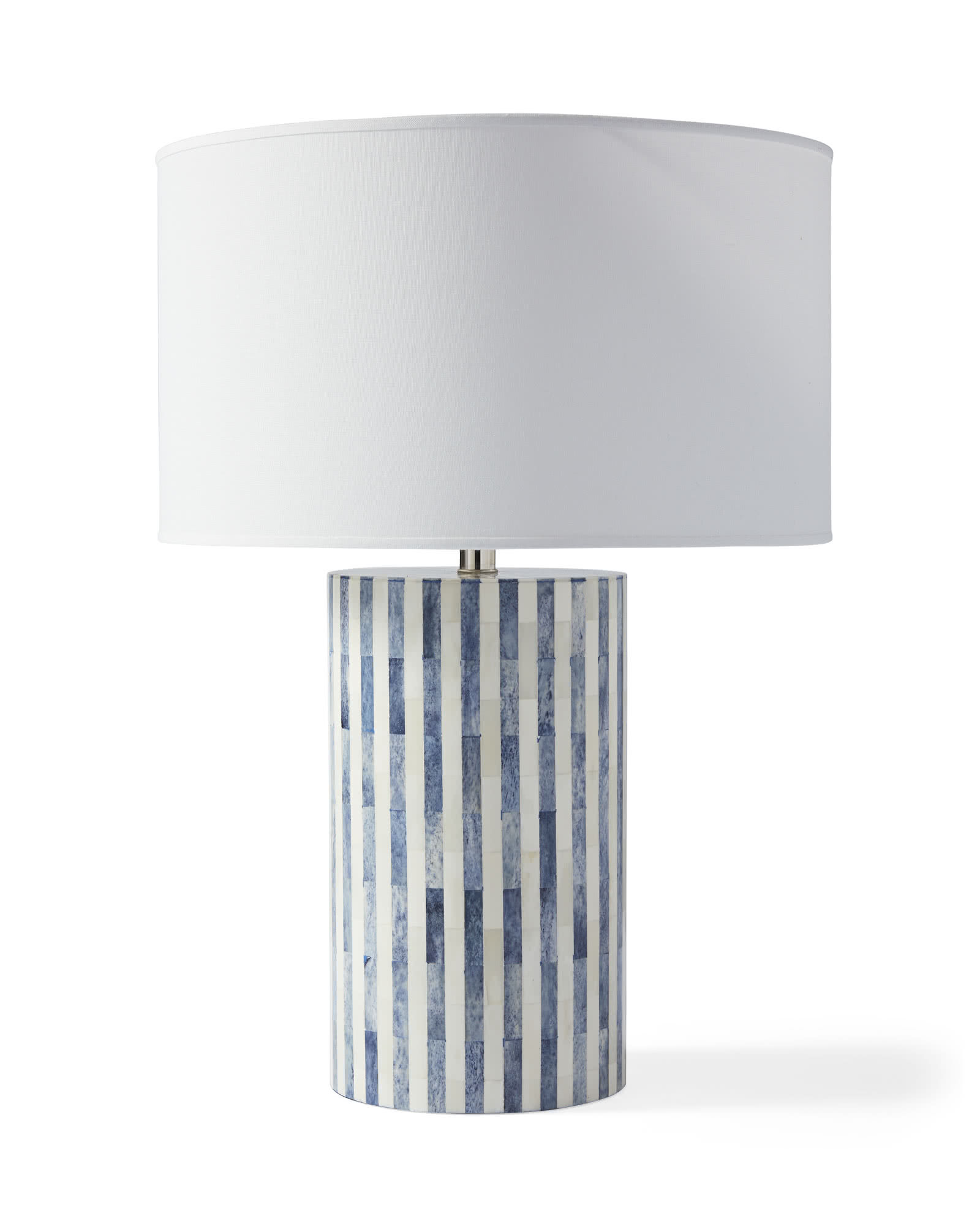 Bar Harbor Bone Inlay Table Lamp, Blue