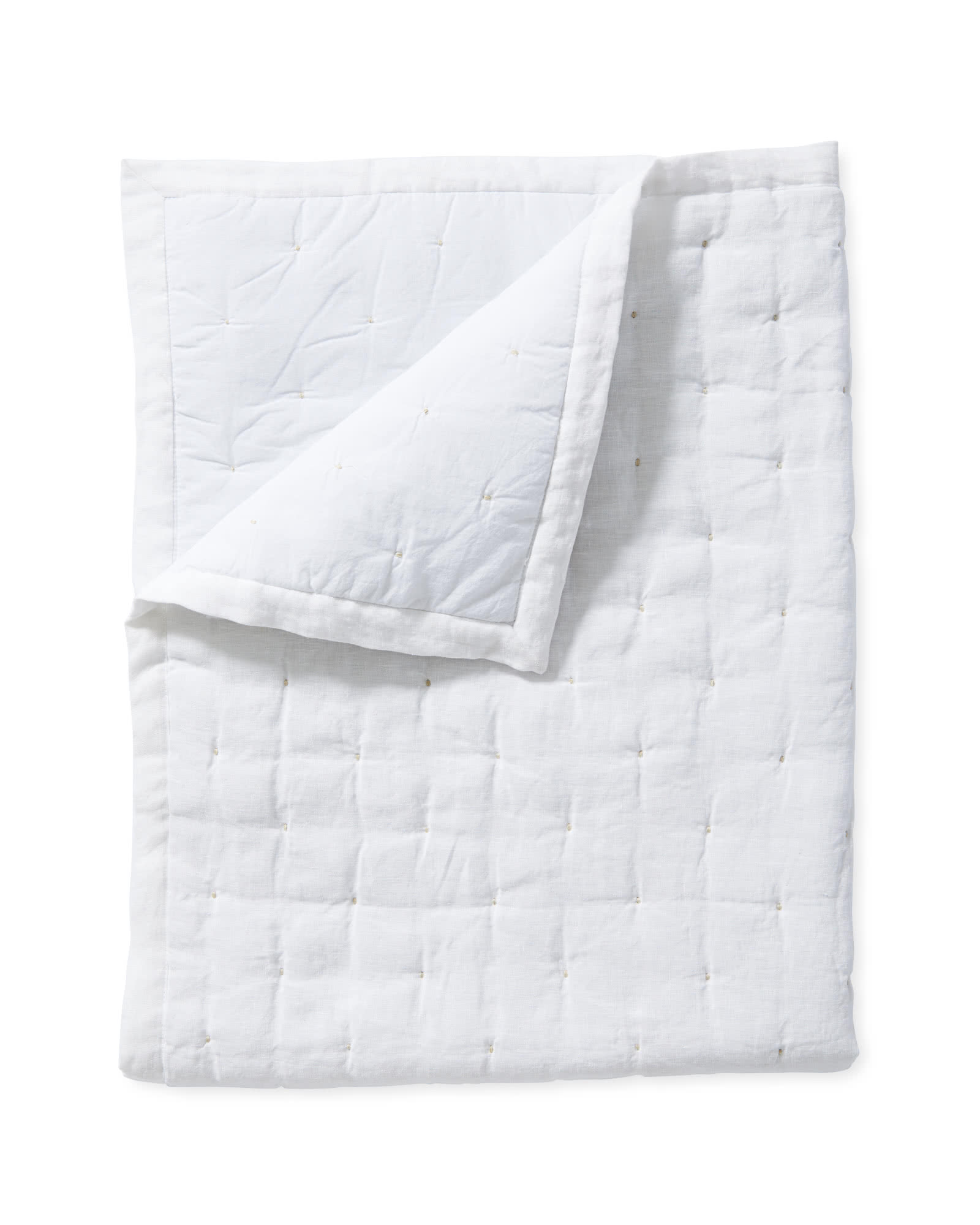 Sutter Mini Quilt, White