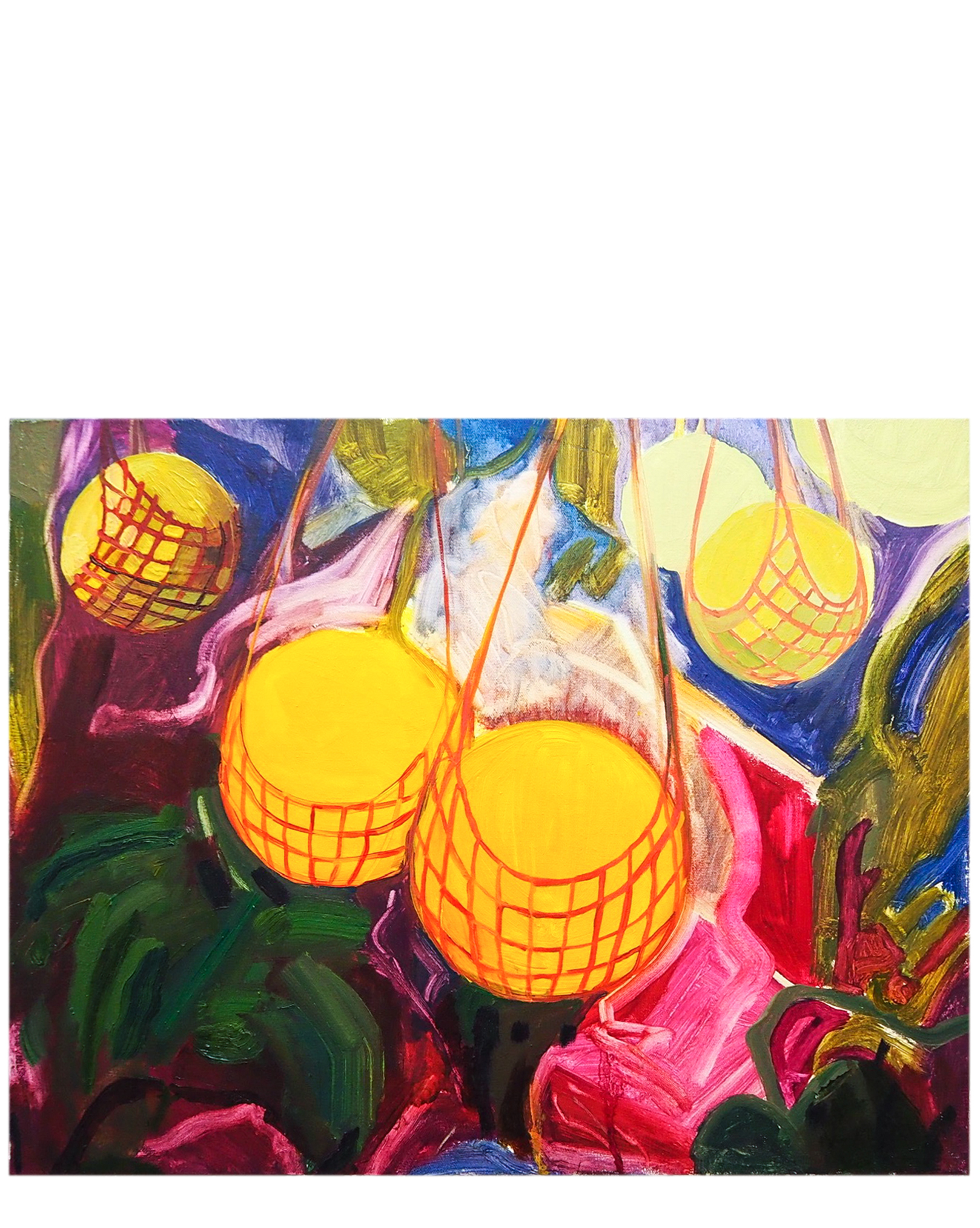 Hanging Melons by Claire Elliott,