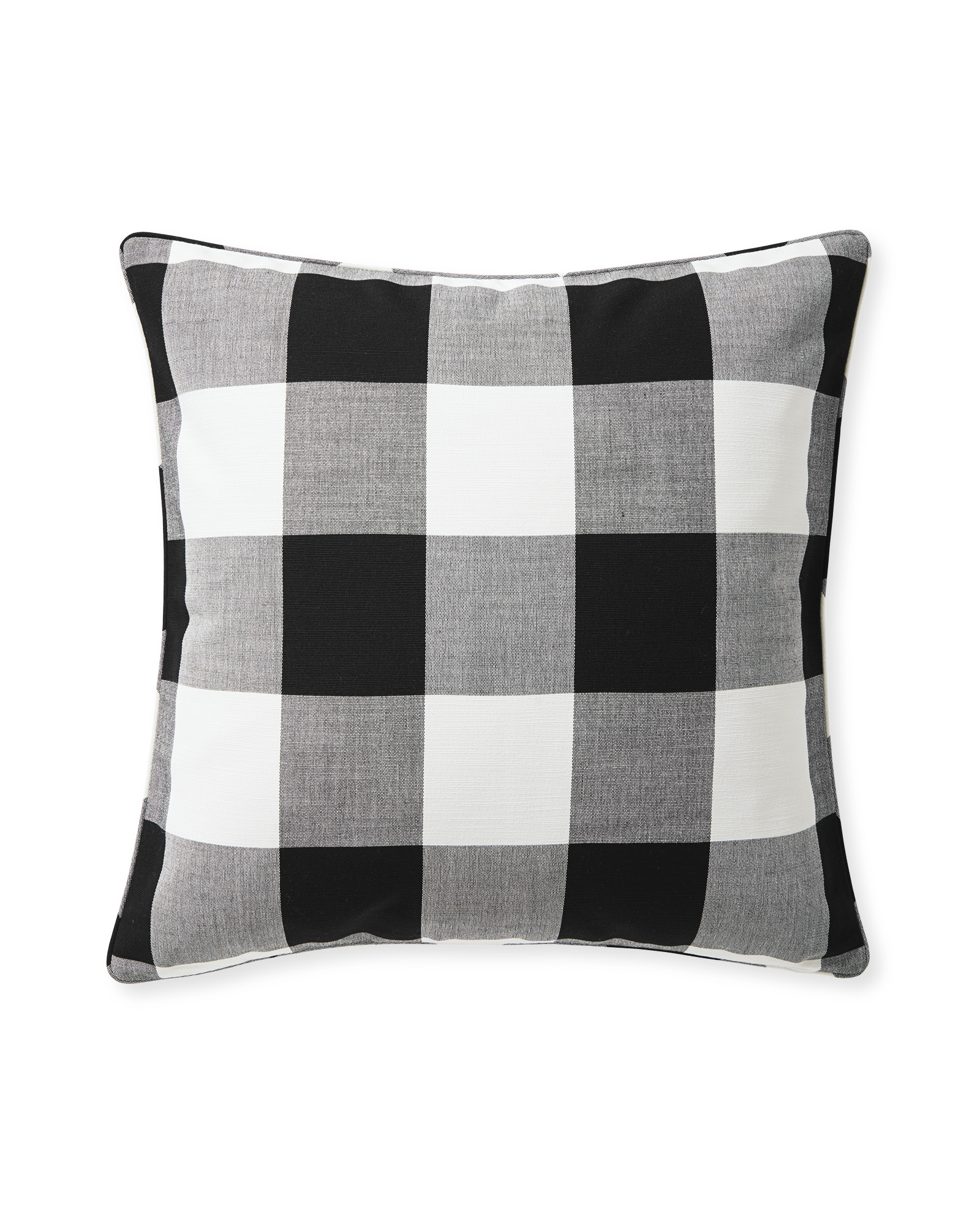 Perennials® Gingham Pillow Cover, Black