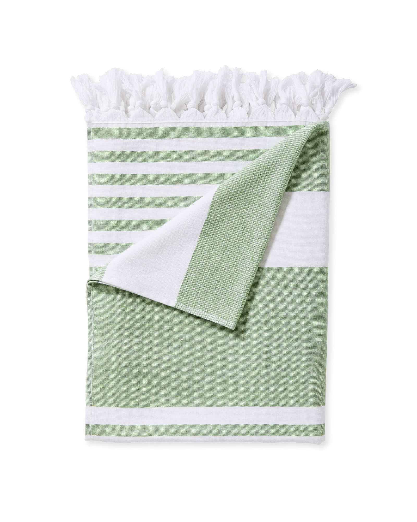 Capri Fouta Beach Towel, Green