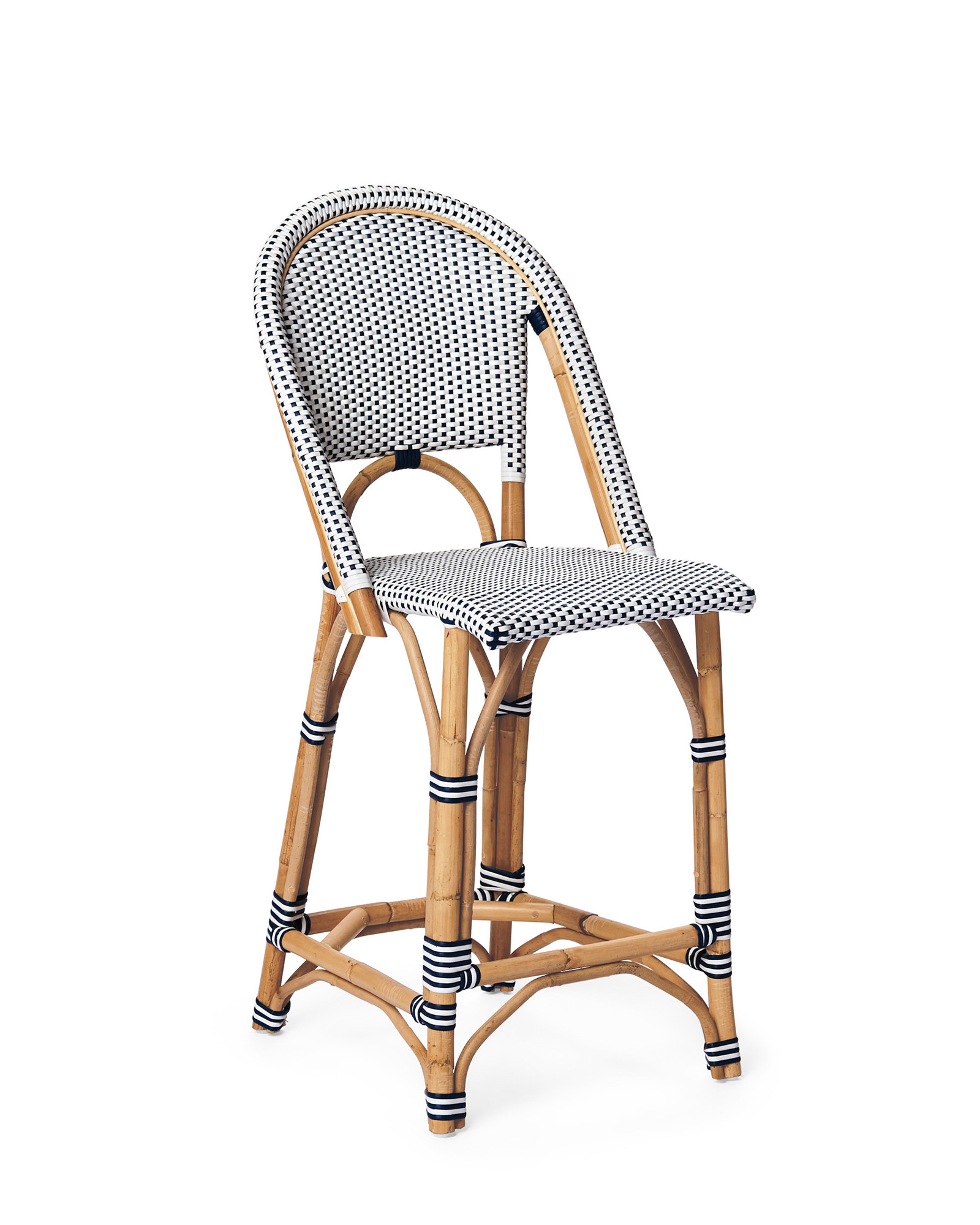 Riviera Counter Stool, Navy/White